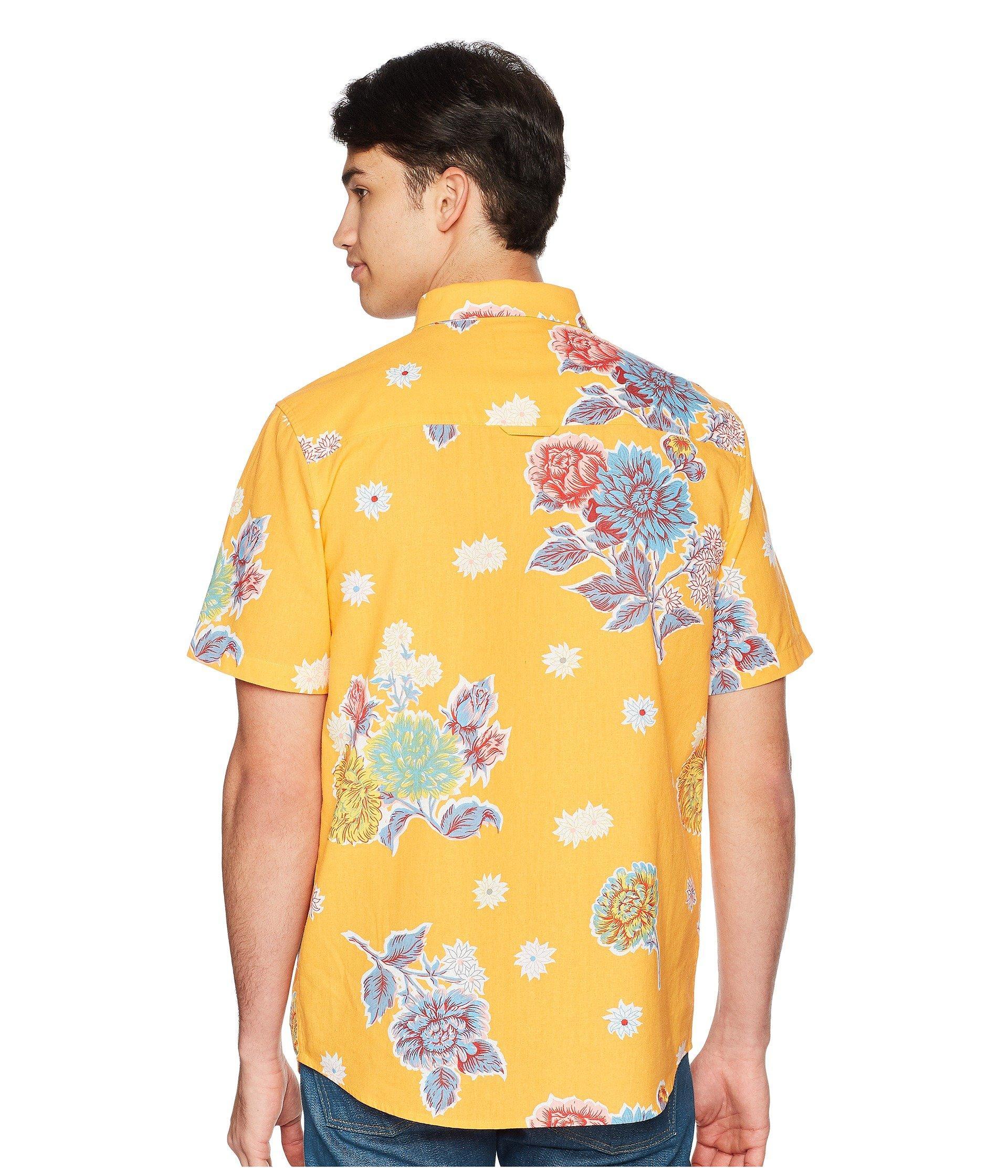 Short Shirt 33 Lyst Sleeve Save Huf Floral Botanical Men For qzVMGSUp