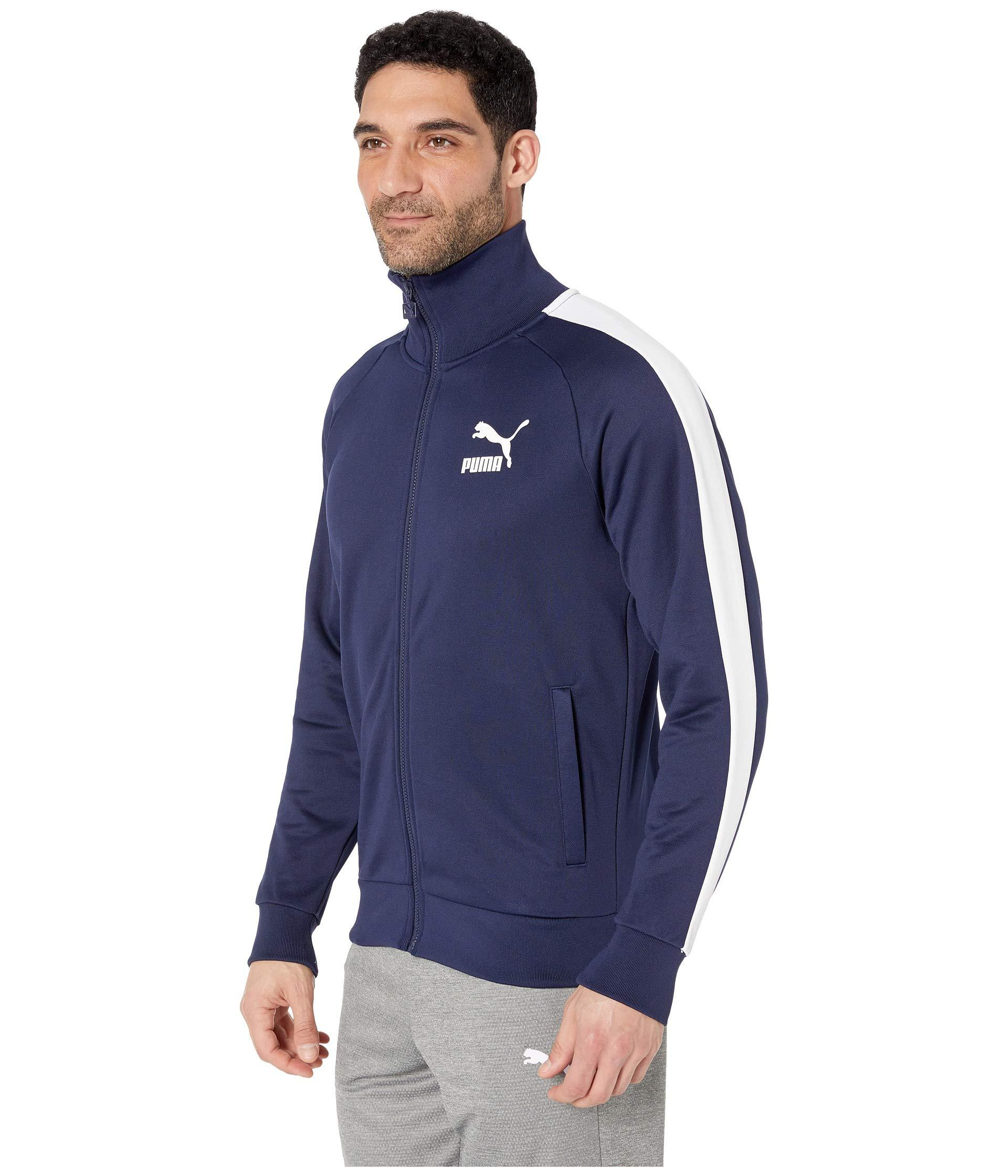 f30f2198f427 Lyst - PUMA Iconic T7 Track Jacket in Blue for Men