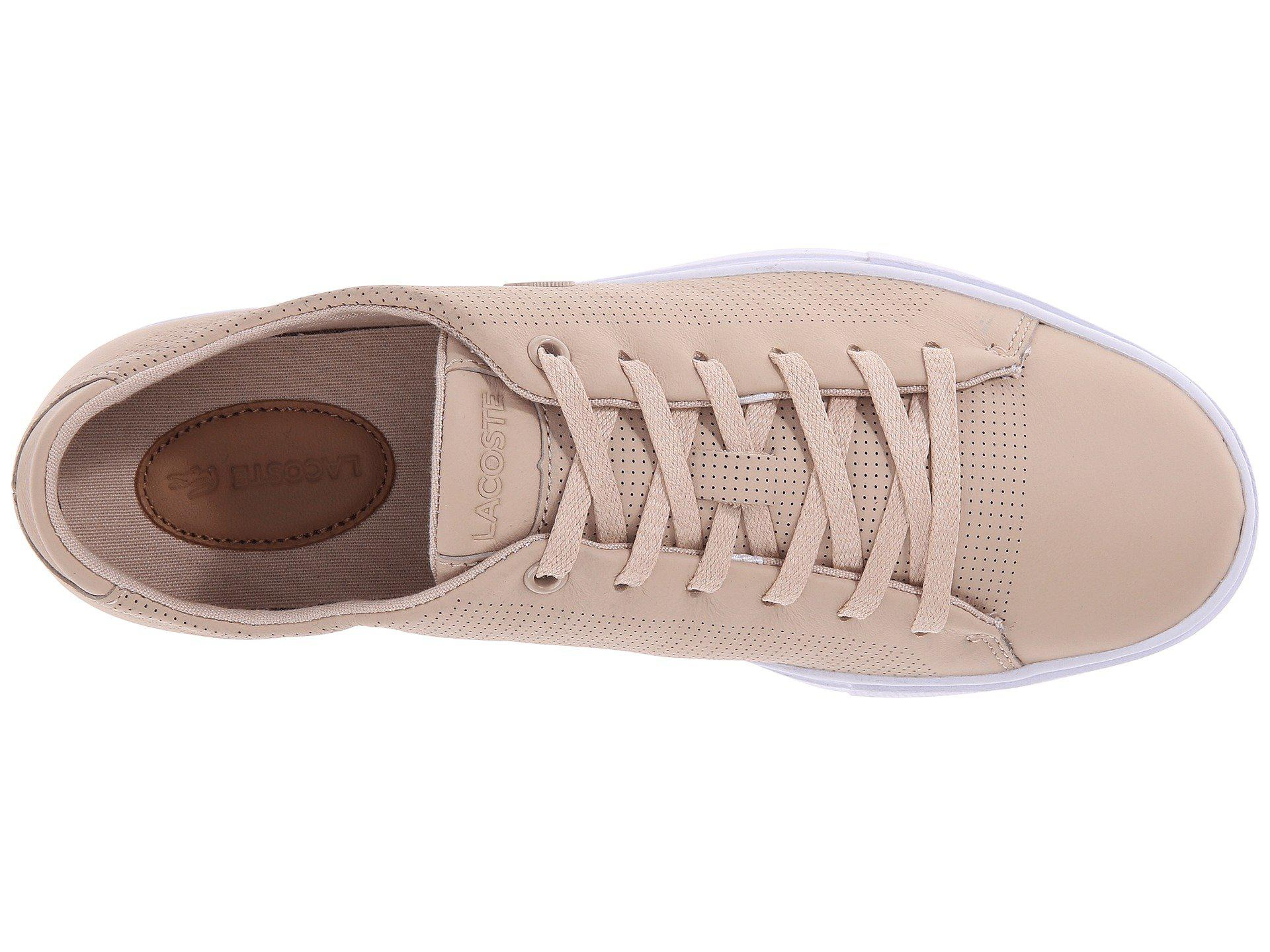 d654fbca24fca2 Lyst - Lacoste Showcourt Lace in Natural