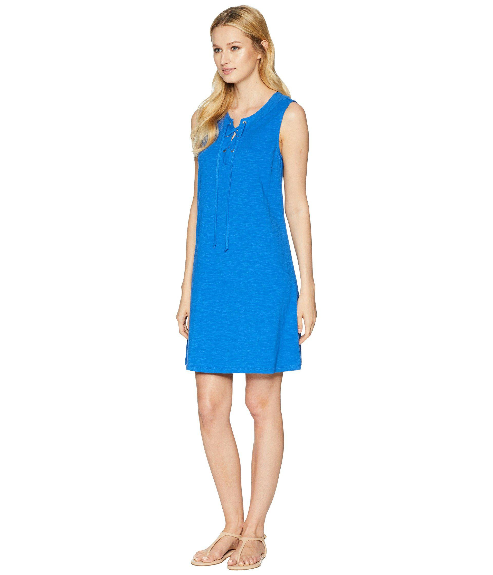 eab6706585 Lyst - Tommy Bahama Jer-sea Sleeveless Tie Front Dress in Blue - Save 17%