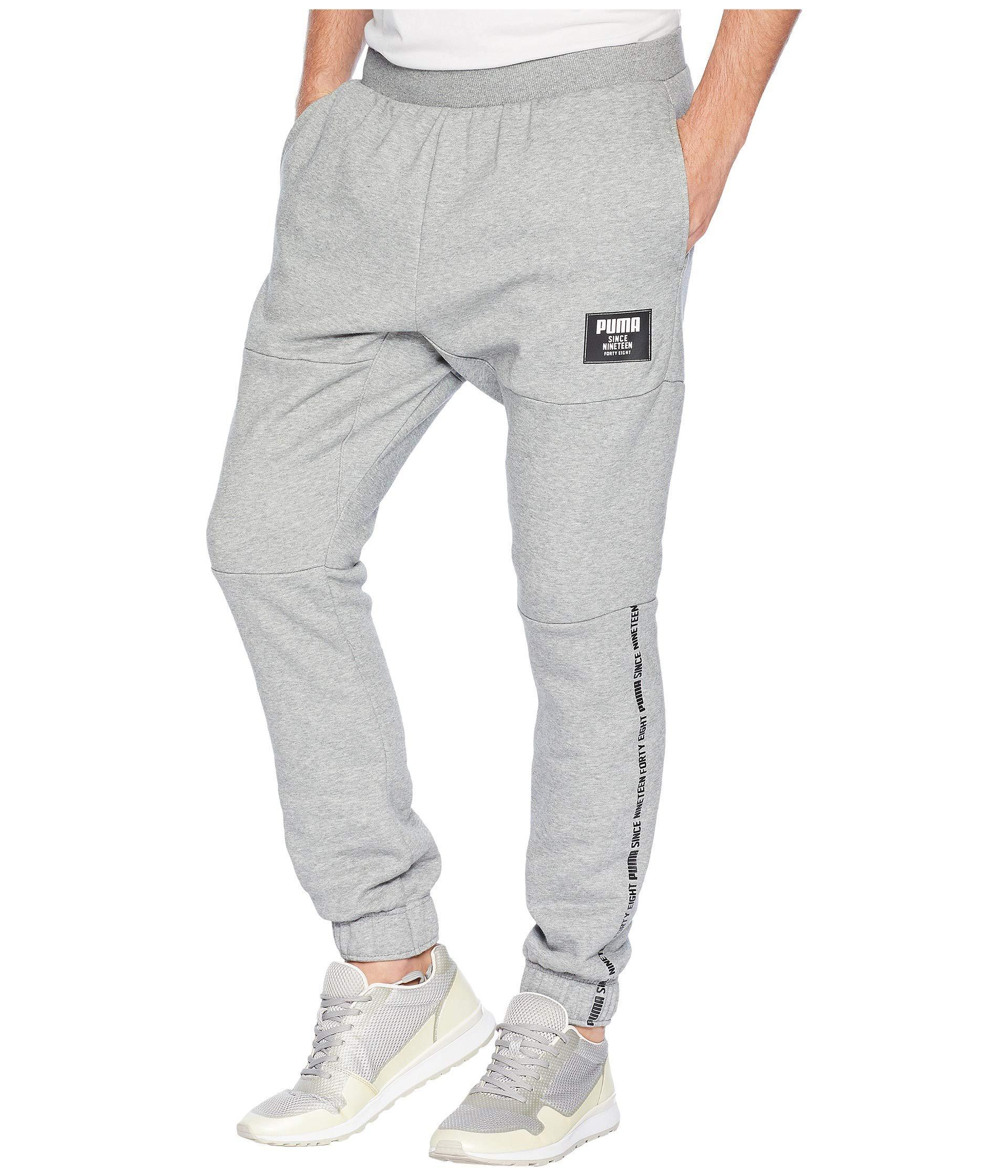 20037148c9b7 Lyst - PUMA Rebel Block Pants Fleece Cl in Gray for Men