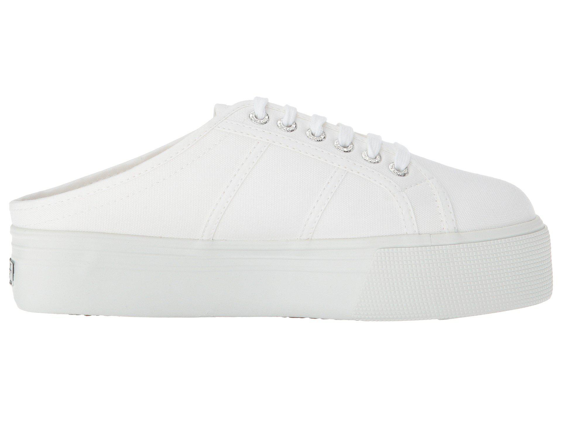 df1873fb9f77 Lyst - Superga 2284 Vcotw Platform Sneaker Mule in White - Save 5%