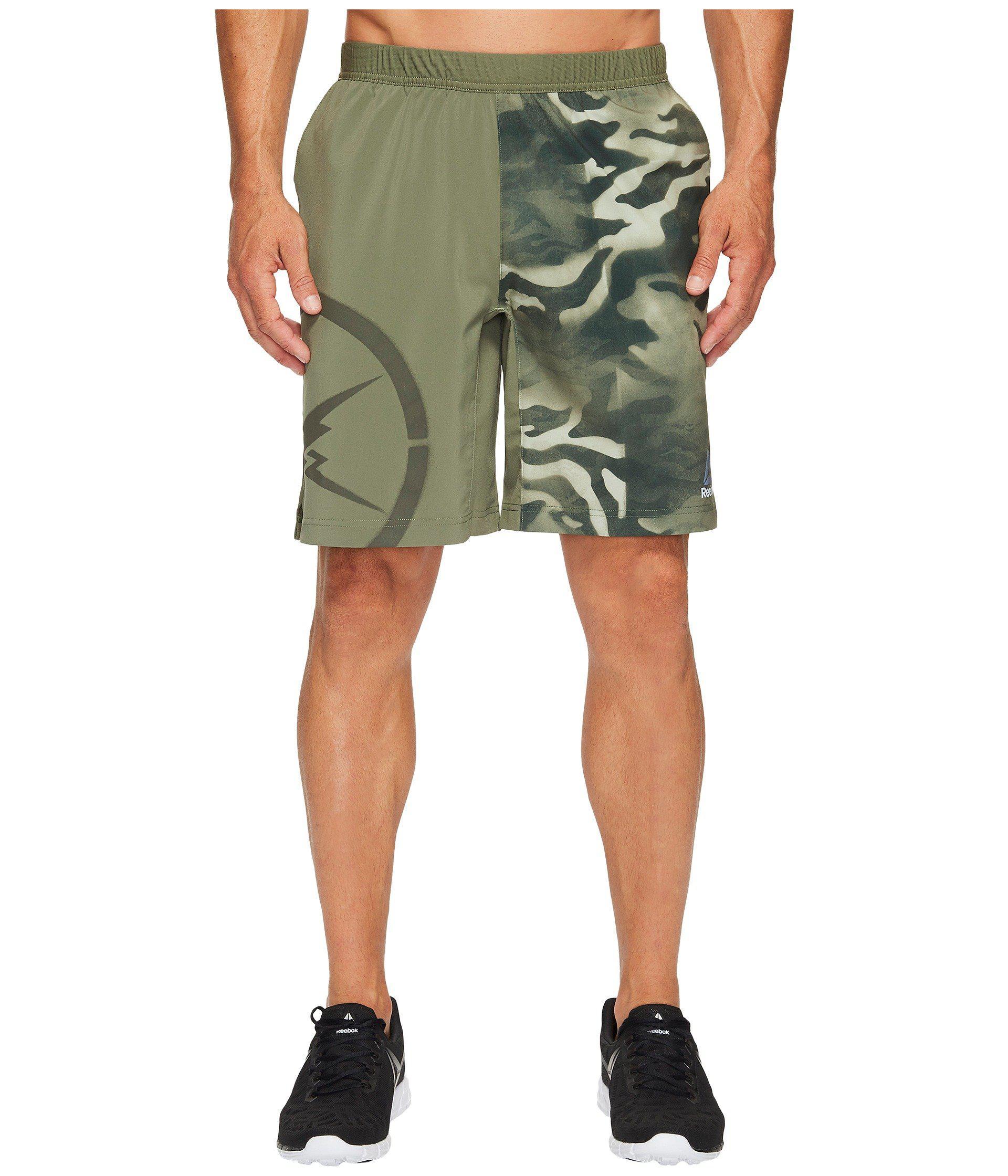 21e077849859 Lyst - Reebok Camo Speed Shorts in Green for Men