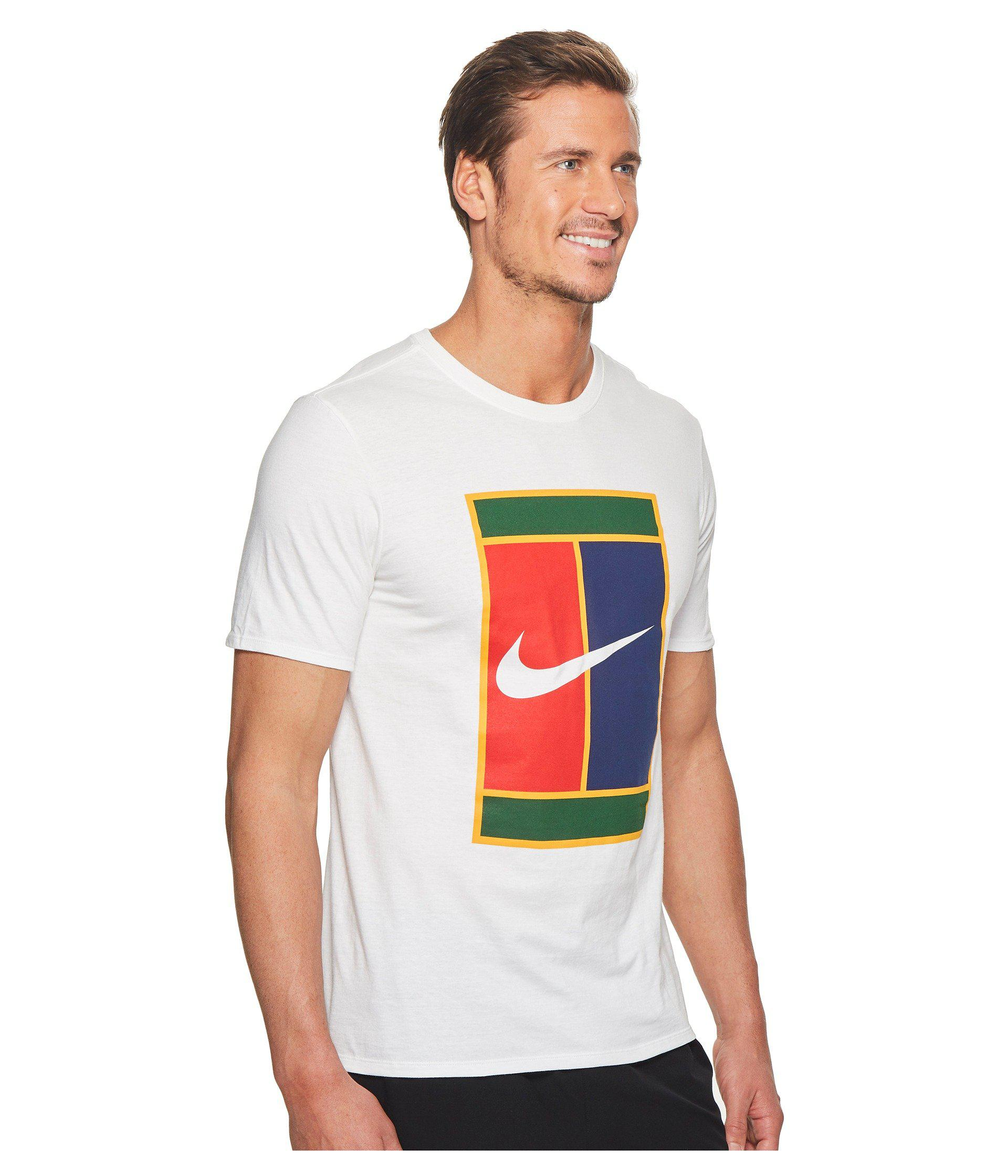 984055c8 Nike Court Heritage Logo Tennis Tee in White for Men - Lyst