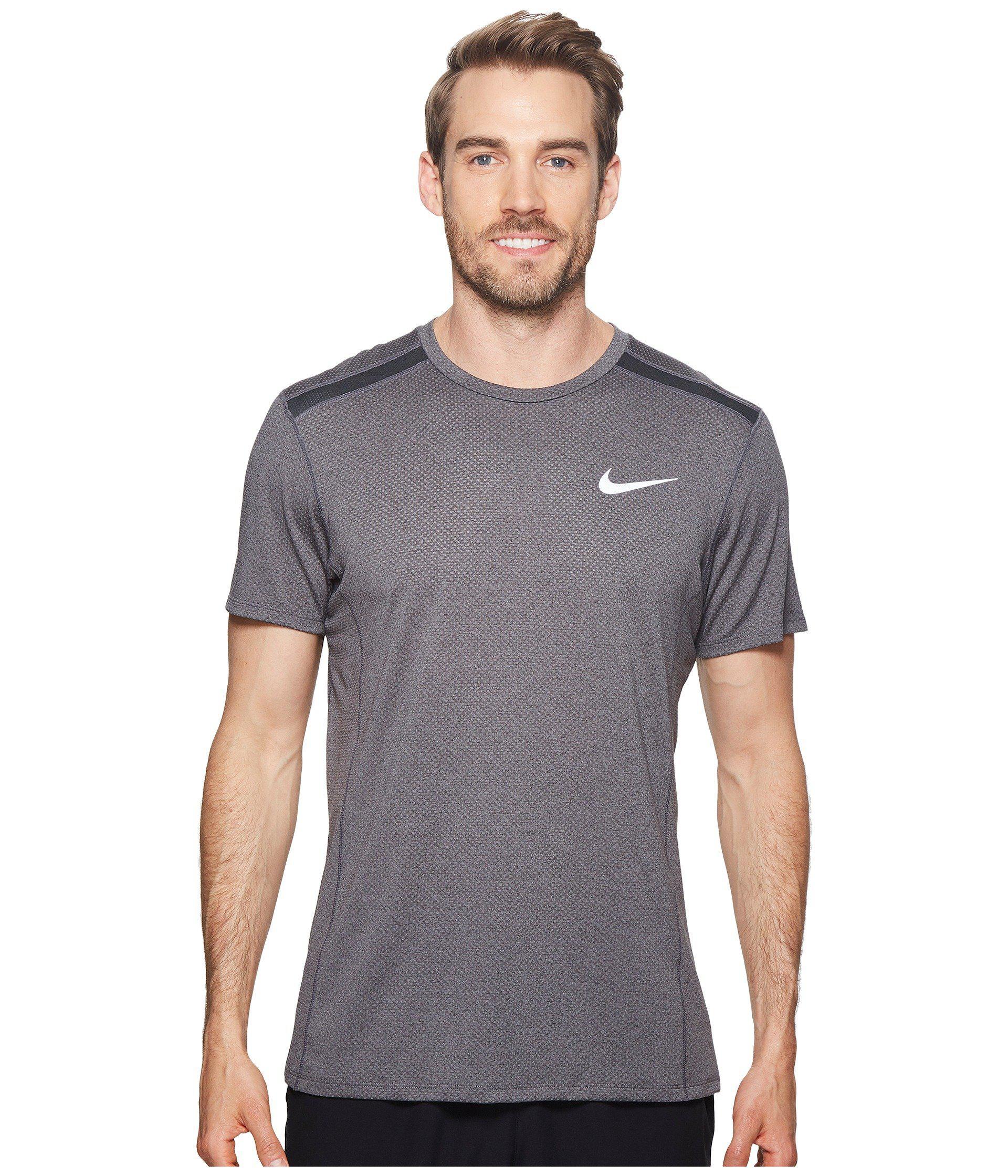 a391c65b2e735 Lyst - Nike Cool Miler Short-sleeve Running Top in Gray for Men ...