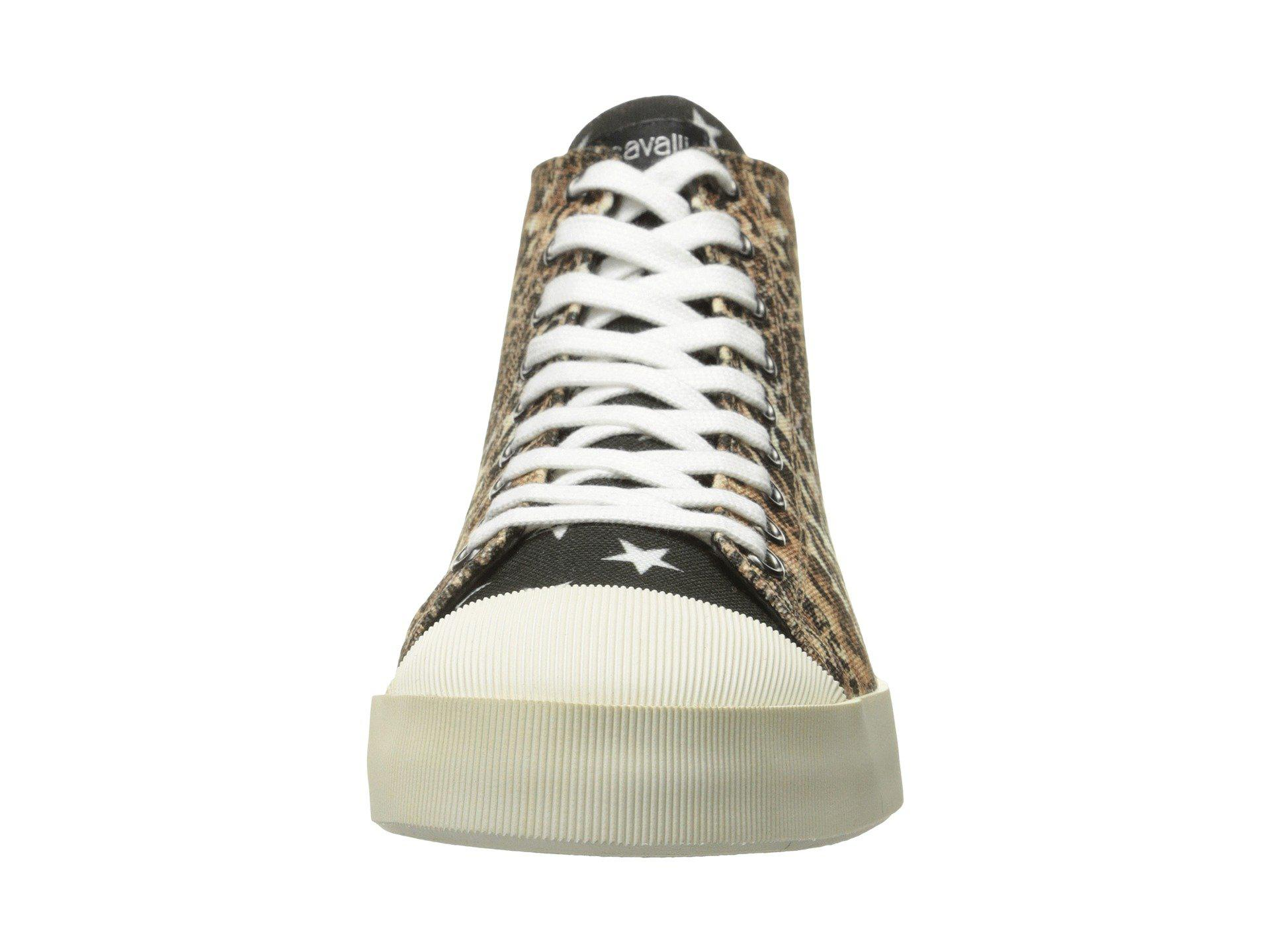 Mixed Printed Canvas High Tops Just Cavalli tpstt4