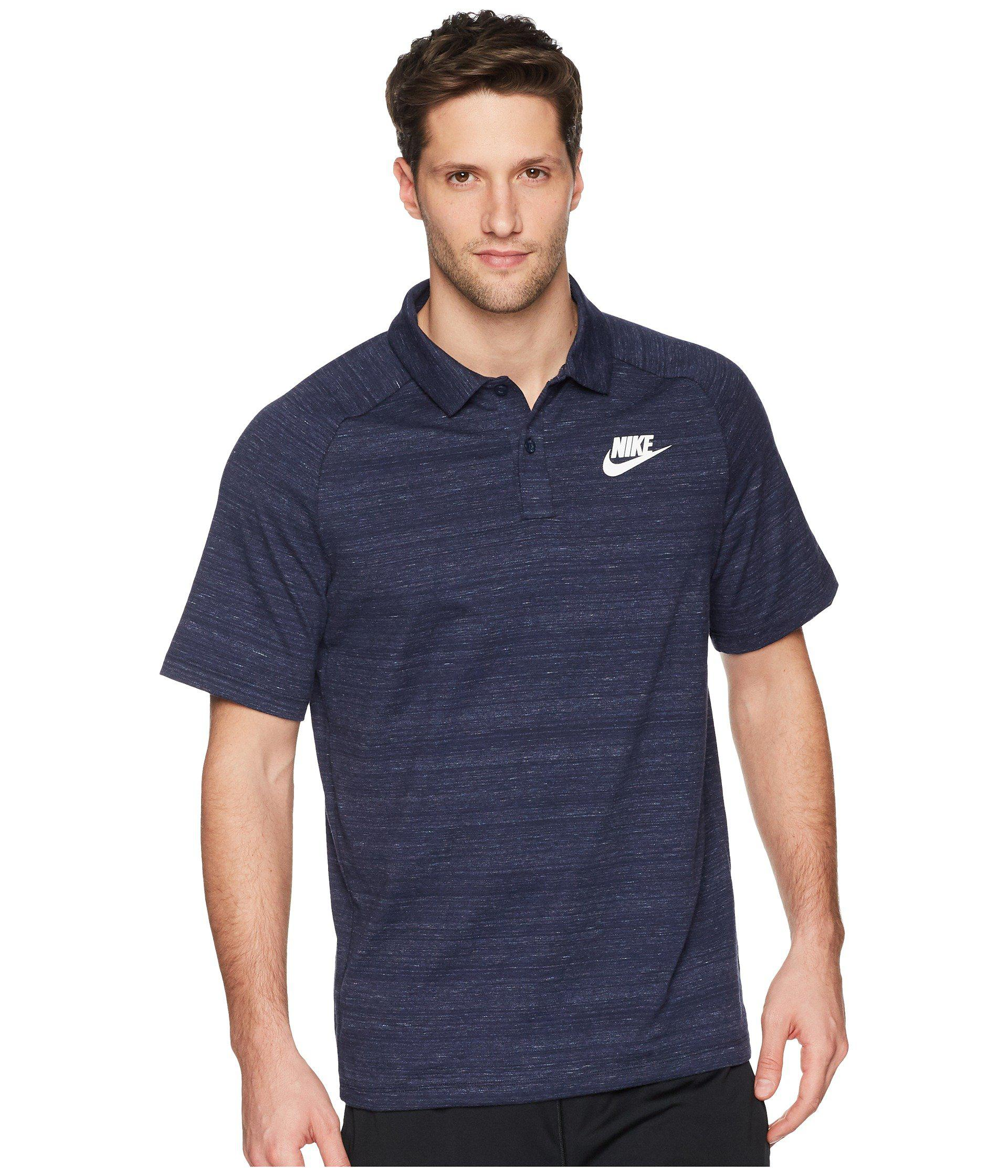 4c143f688a46 Lyst - Nike Nsw Av15 Polo Knit in Blue for Men - Save 5%