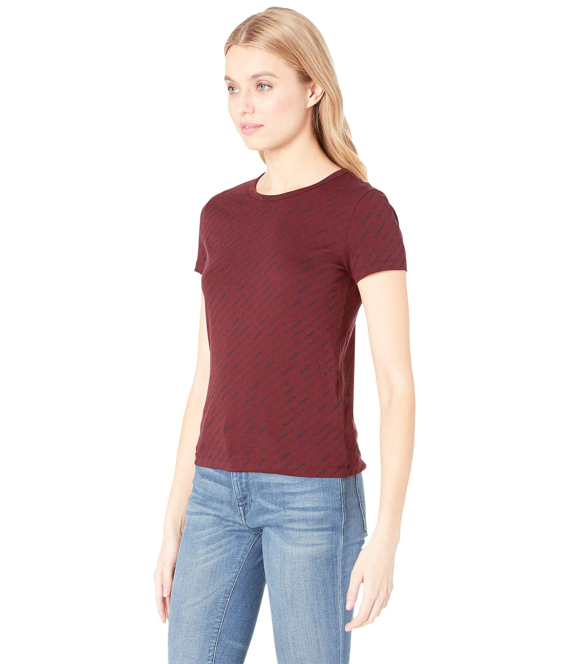 8fe24320 Lyst - Juicy Couture Juicy Repeat Logo Graphic Tee in Red