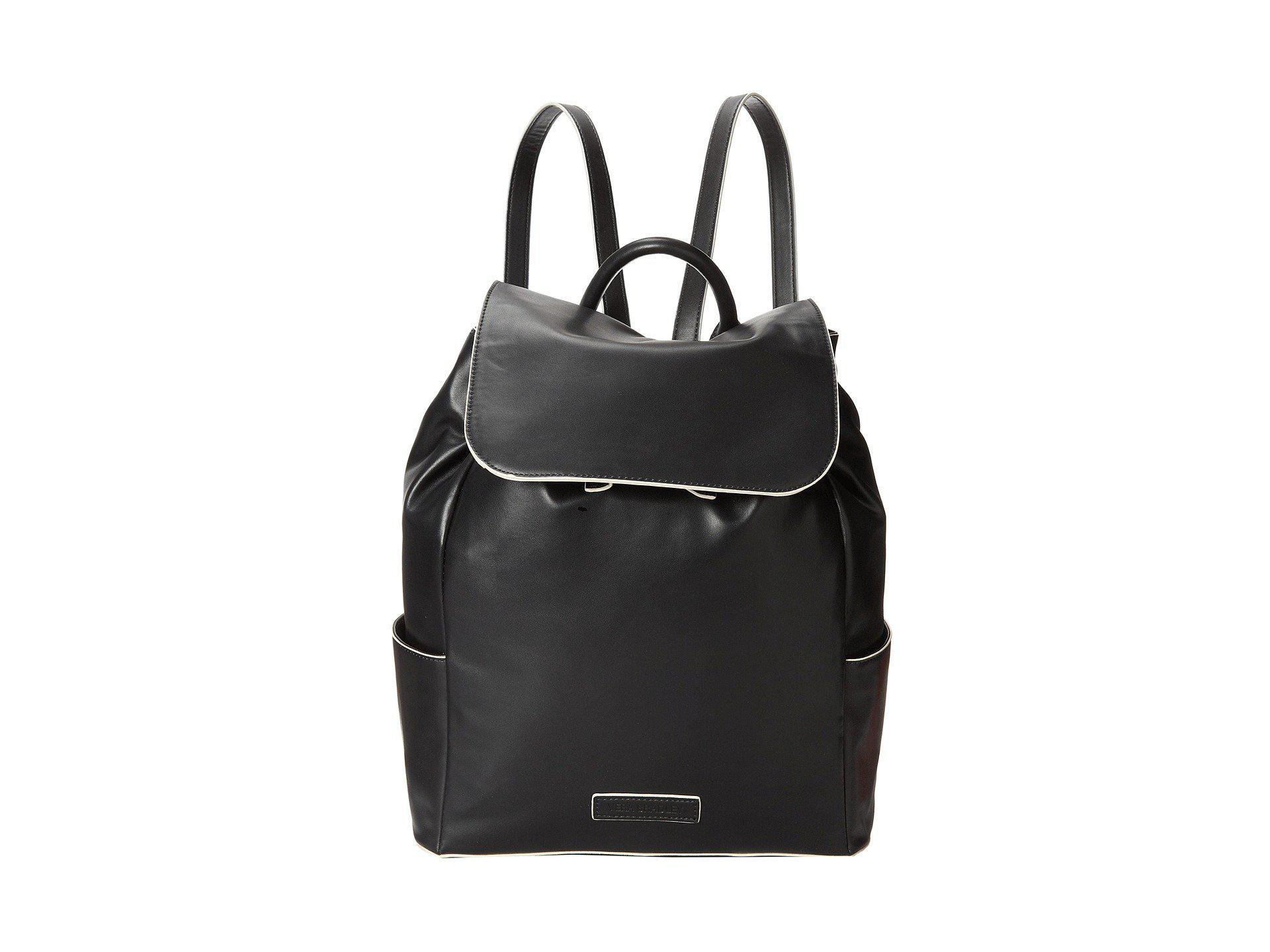 Lyst - Vera Bradley Faux Leather Backpack in Black b795b478b1
