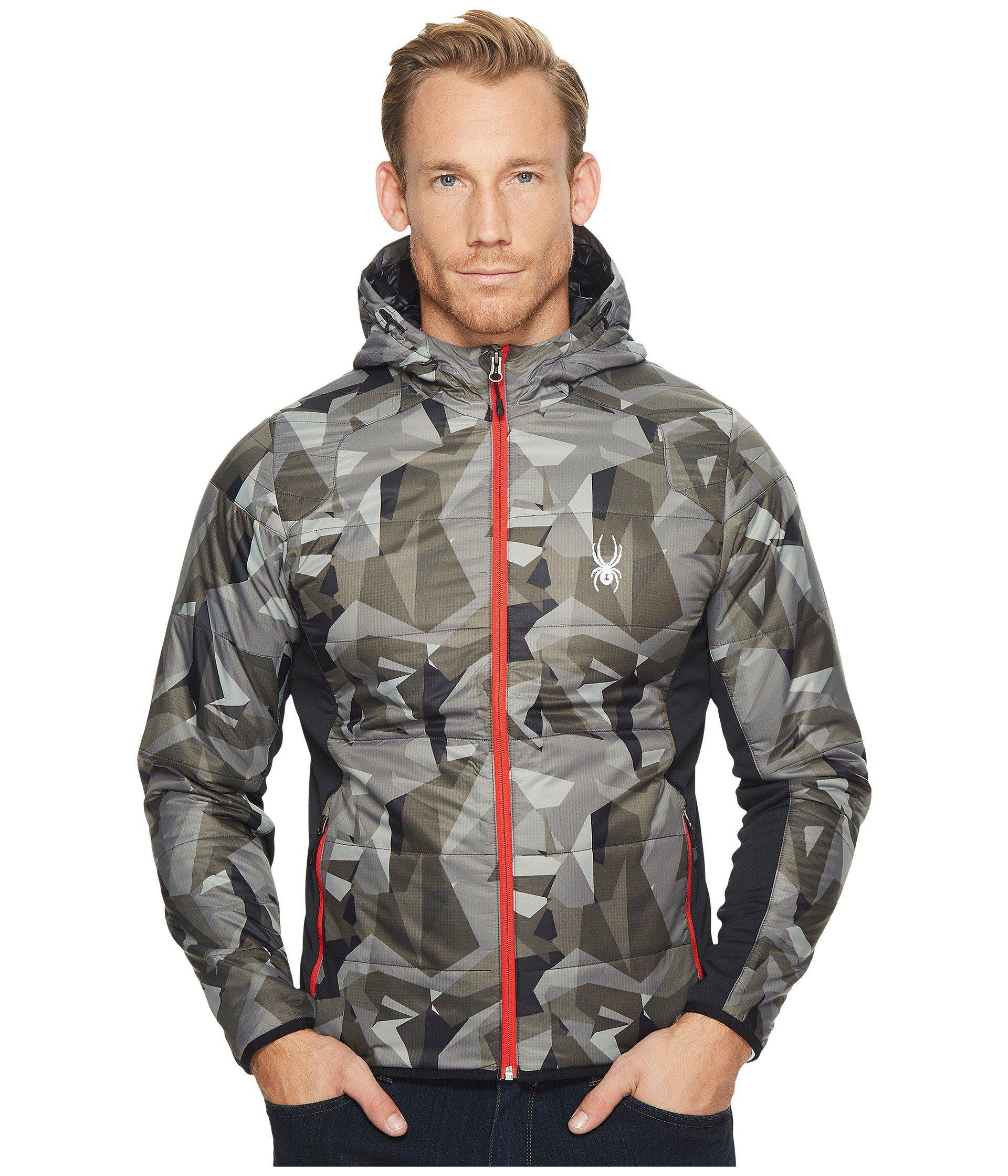 97f5038b2e938 Spyder Glissade Full Zip Hoodie Insulator Jacket in Black for Men - Lyst