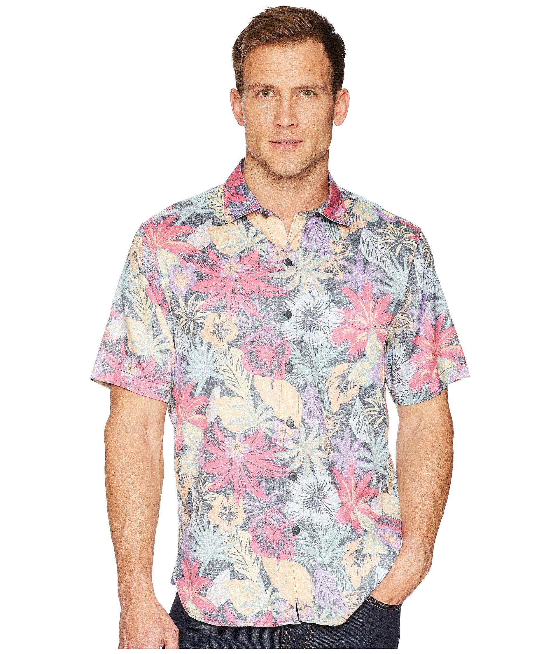 Lyst - Tommy Bahama Fuego Flora Camp Shirt in Black for Men - Save 44% bc39fb493