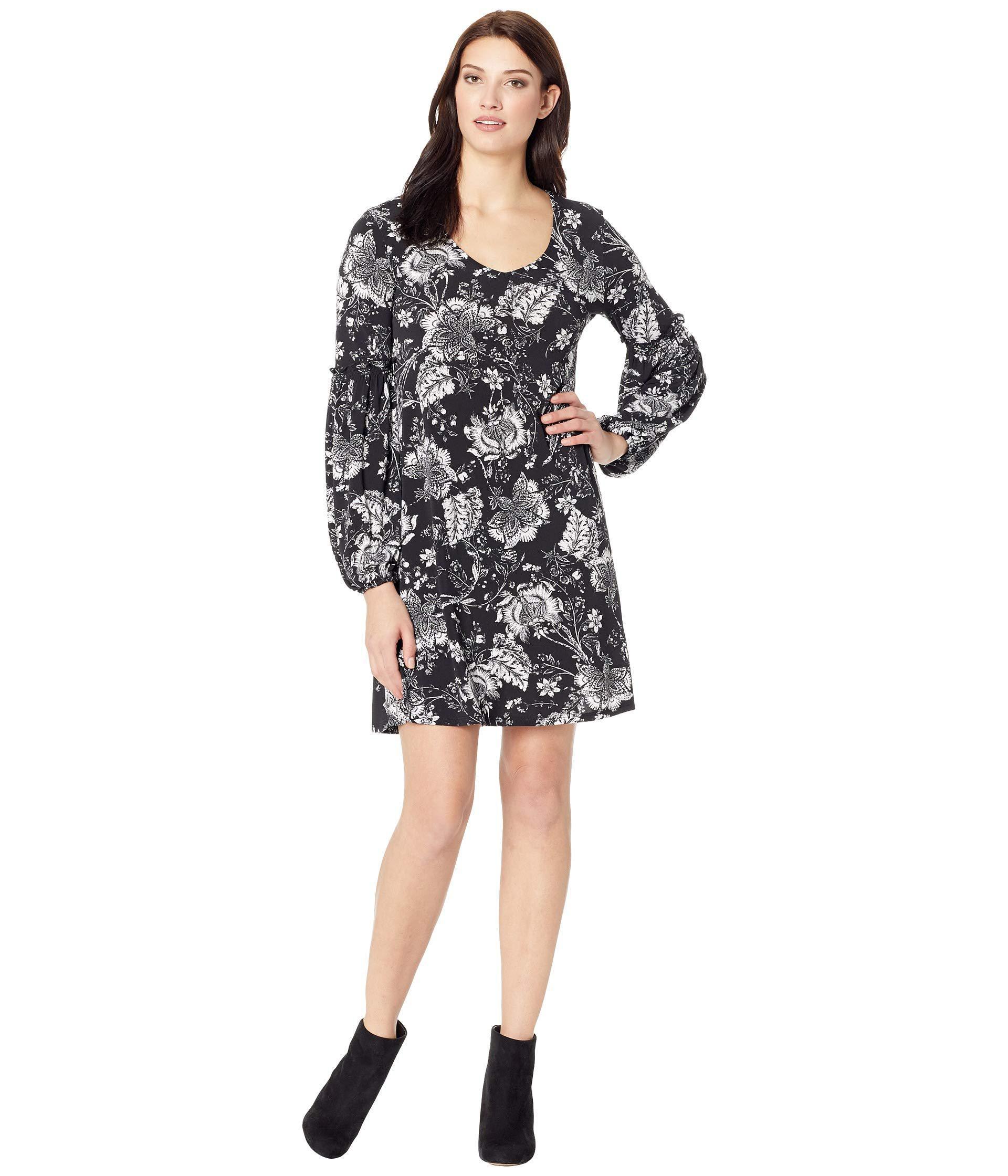 9c0b3347bfc Lyst - Karen Kane Smocked Sleeve Dress in Black - Save 35%