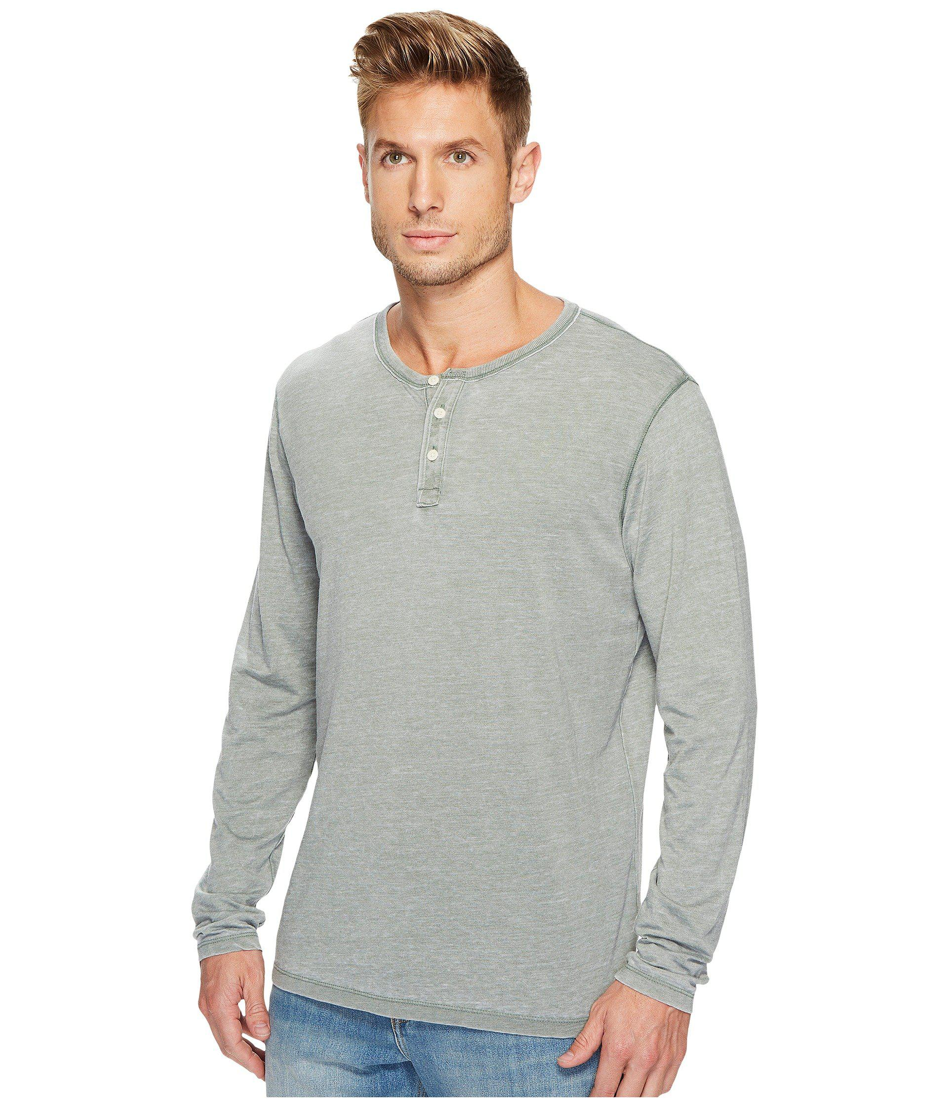 ec1728e380 Lyst - Lucky Brand Venice Burnout Henley in Gray for Men