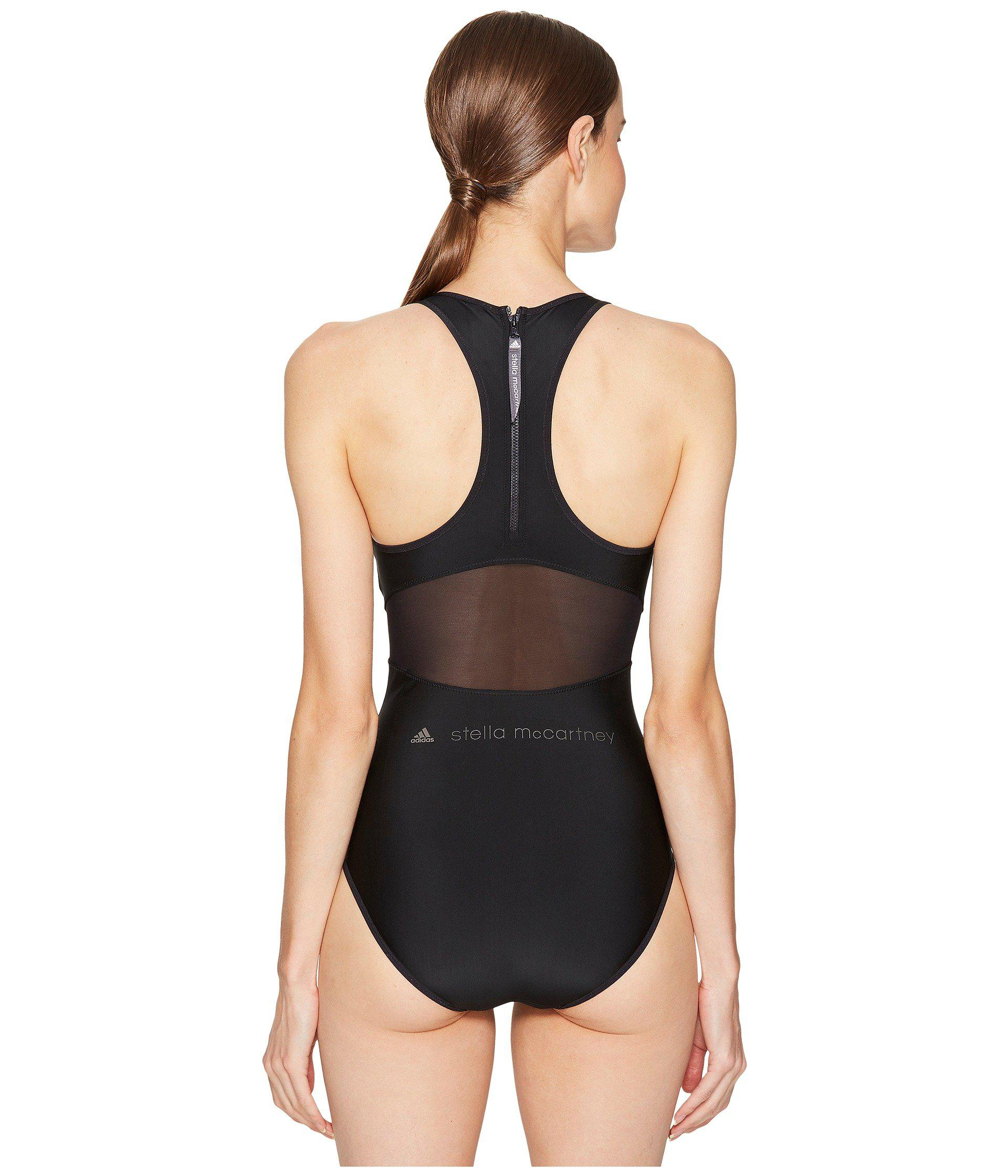 fbeb1c3755a6e adidas By Stella McCartney Performance Zip Swimsuit Bs1150 in Black ...