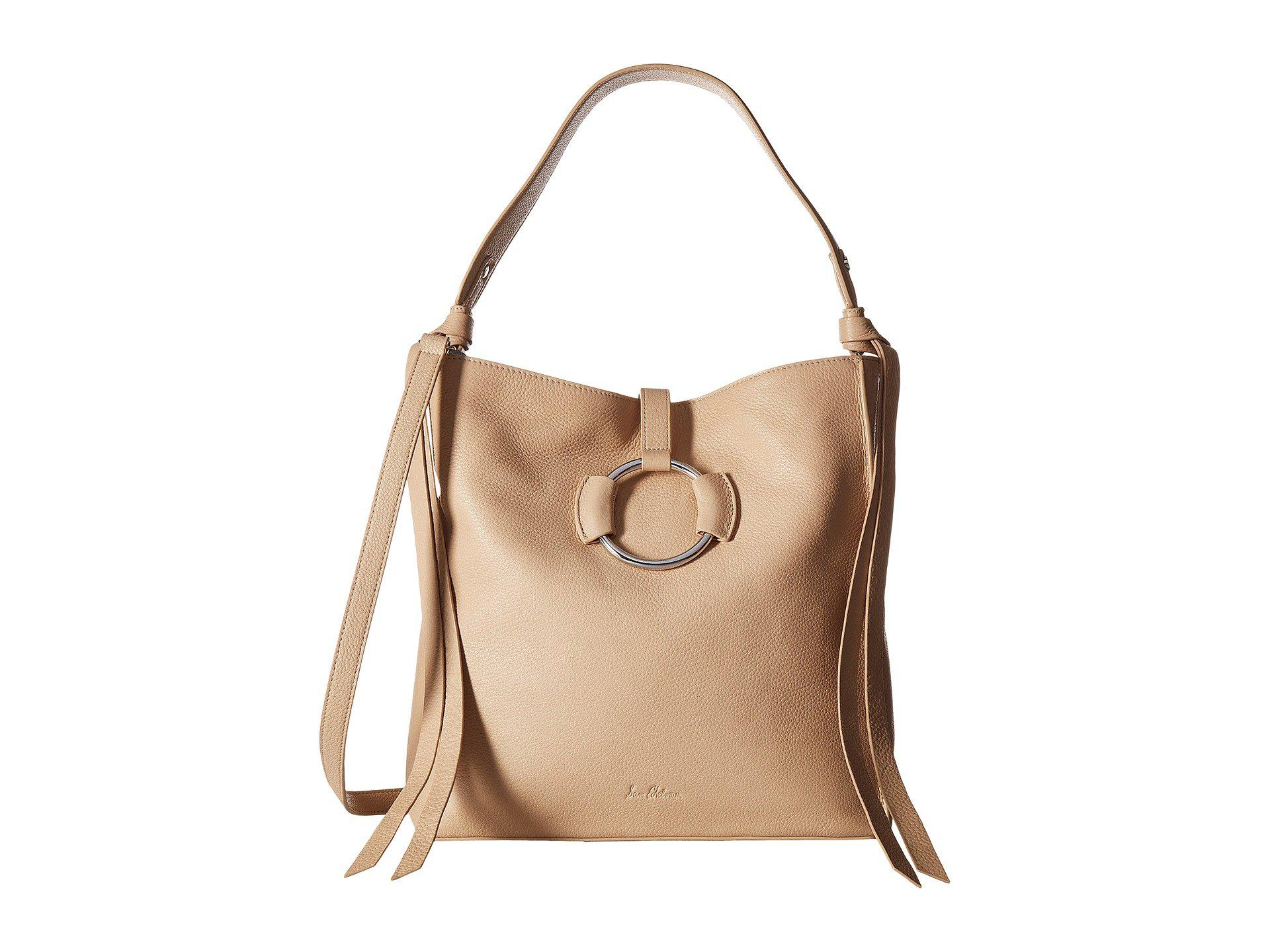 b07423bcd Lyst - Sam Edelman Jaelyn Hobo in Natural - Save 9%