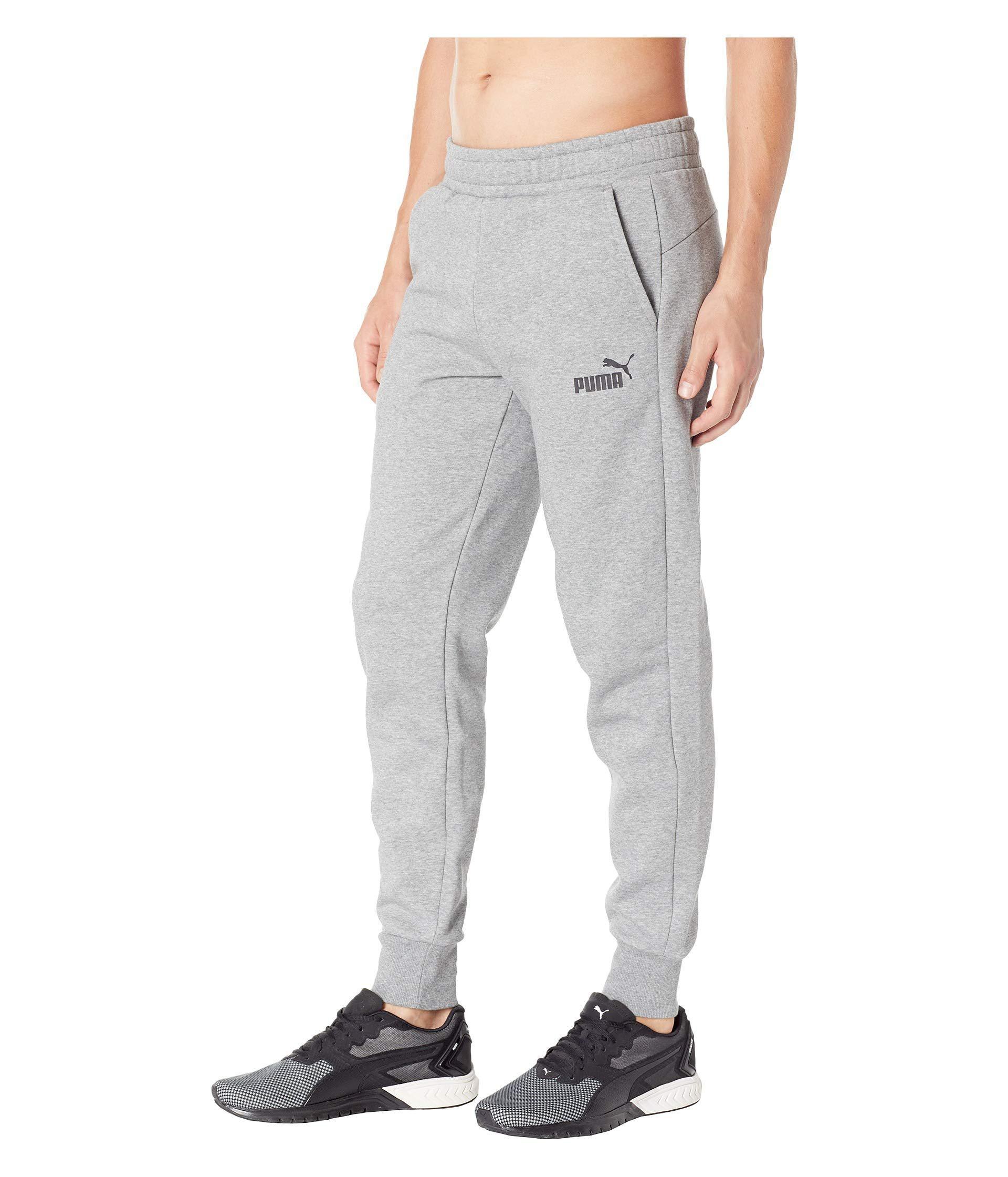 cb63f93d2591 PUMA - Gray Essential Logo Pants Fleece Cl for Men - Lyst. View fullscreen