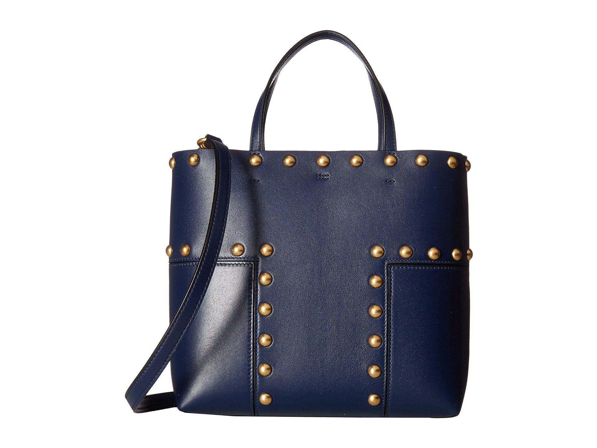 72cc9ab0c21 Lyst - Tory Burch Block-t Stud Mini Tote in Blue