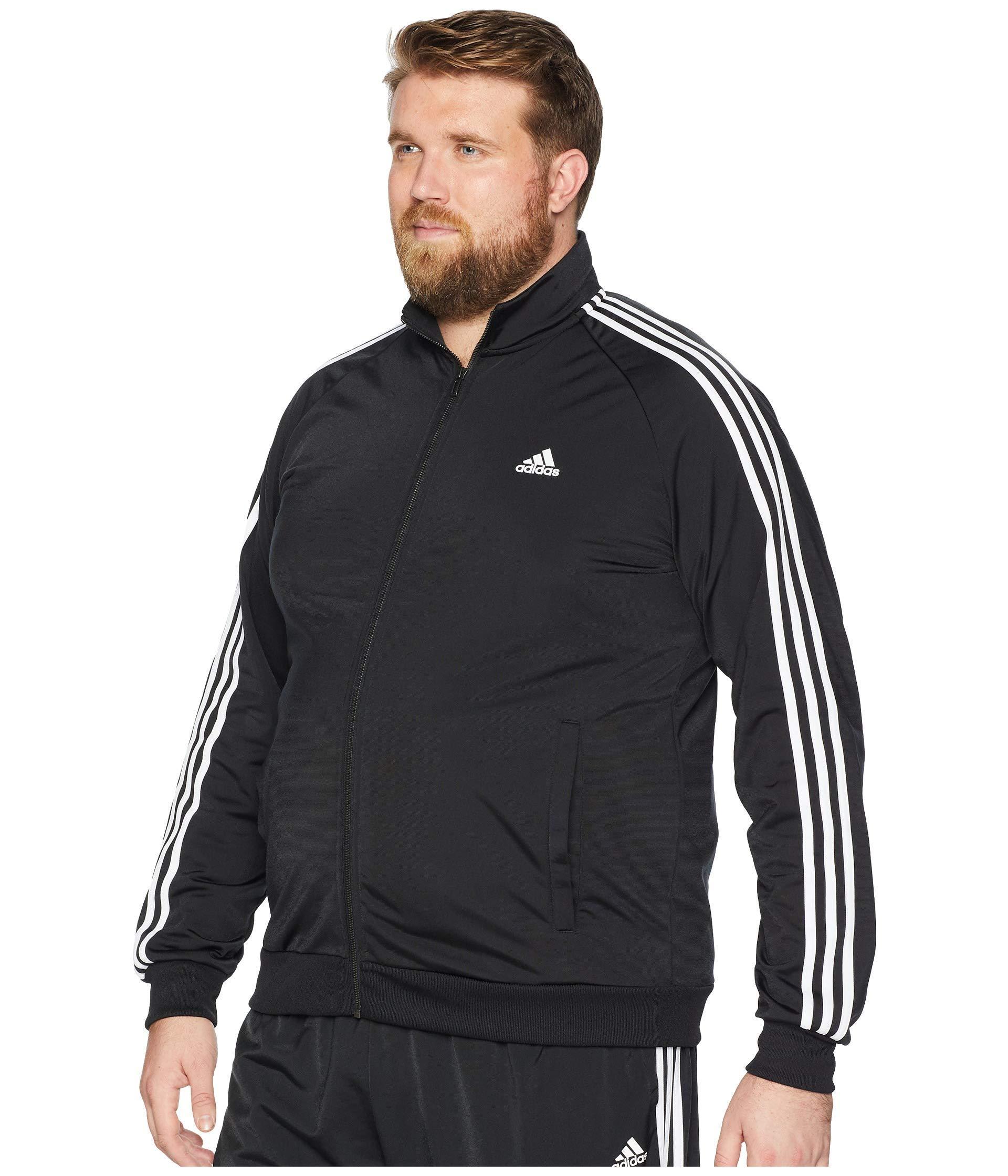 0d5da56b0c3f Lyst - adidas Big   Tall Essentials 3-stripes Tricot Track Jacket in Black  for Men