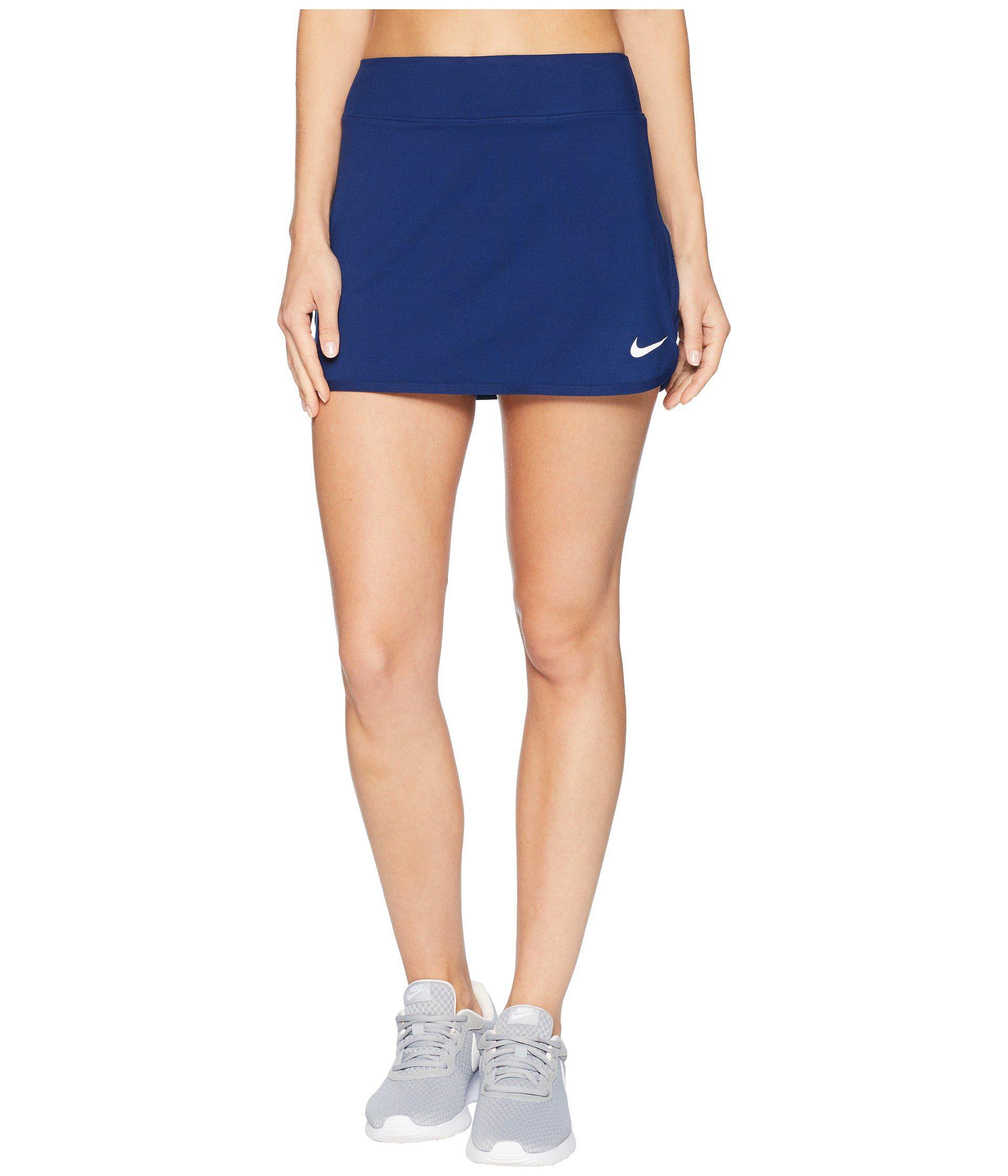 5d2136e11489 Lyst - Nike Court Pure Tennis Skirt in Blue