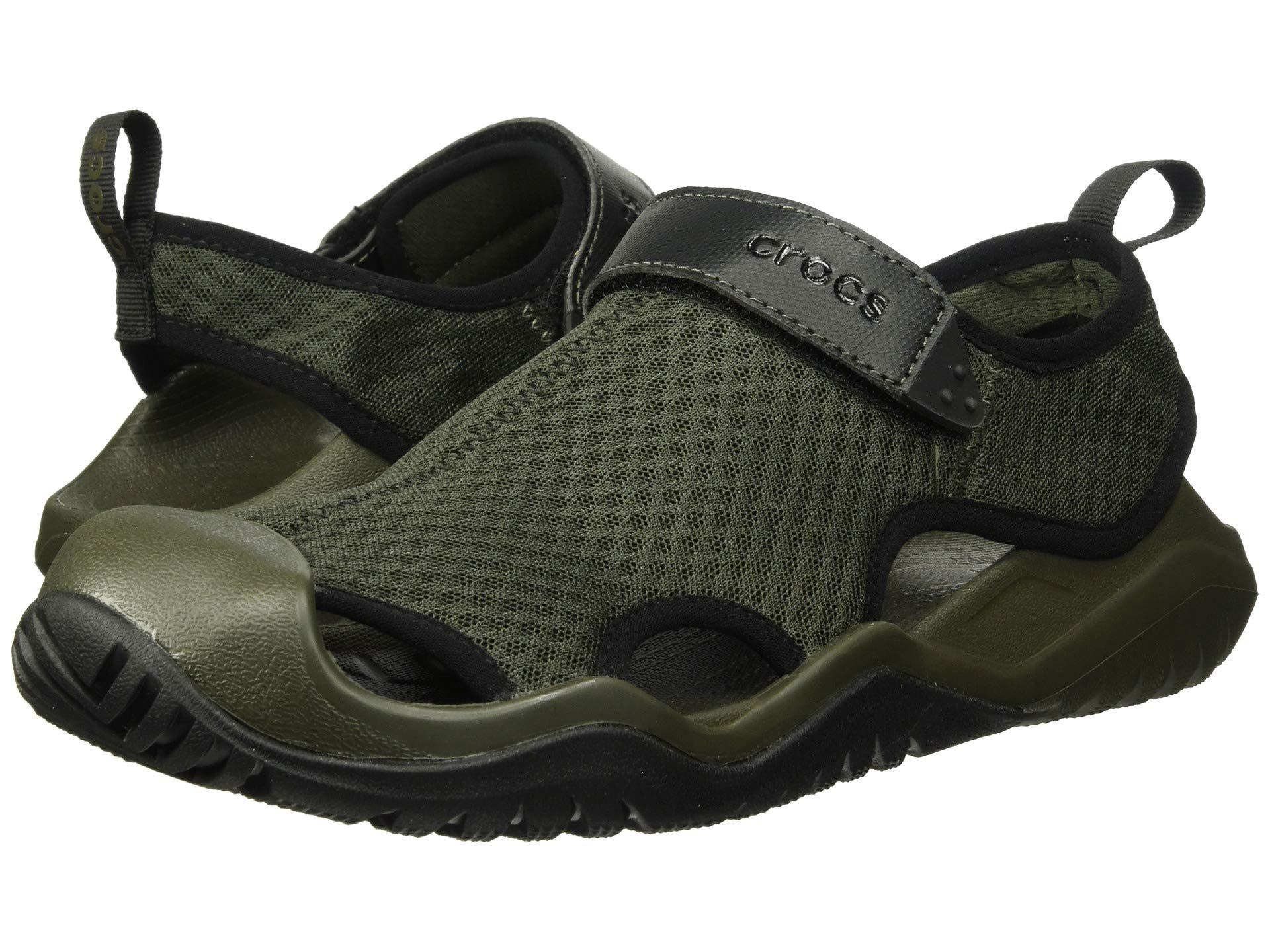 58c35b615b3b Lyst - Crocs™ Swiftwater Mesh Deck Sandal in Green for Men - Save 5%