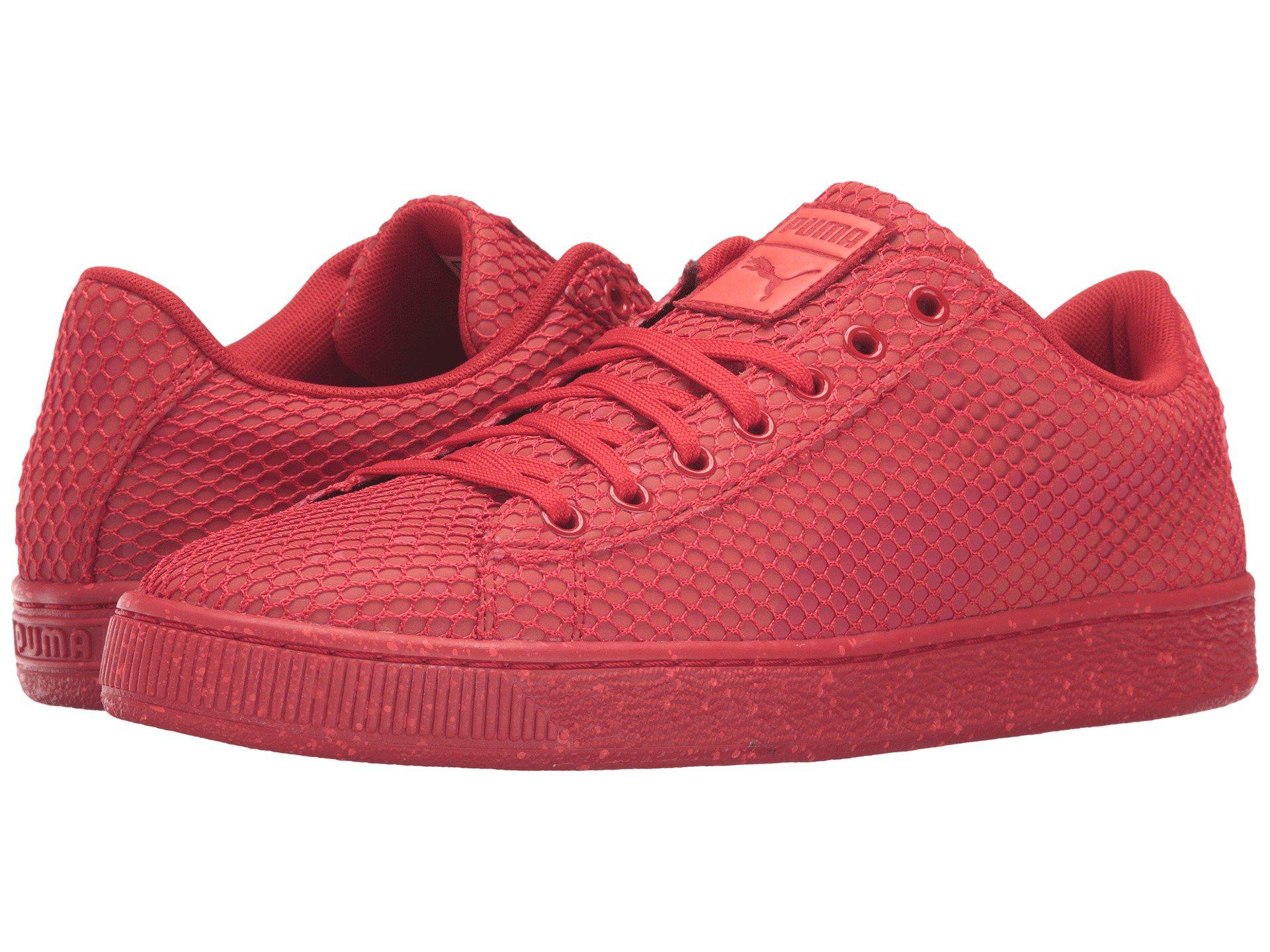 puma basket classic night camo red