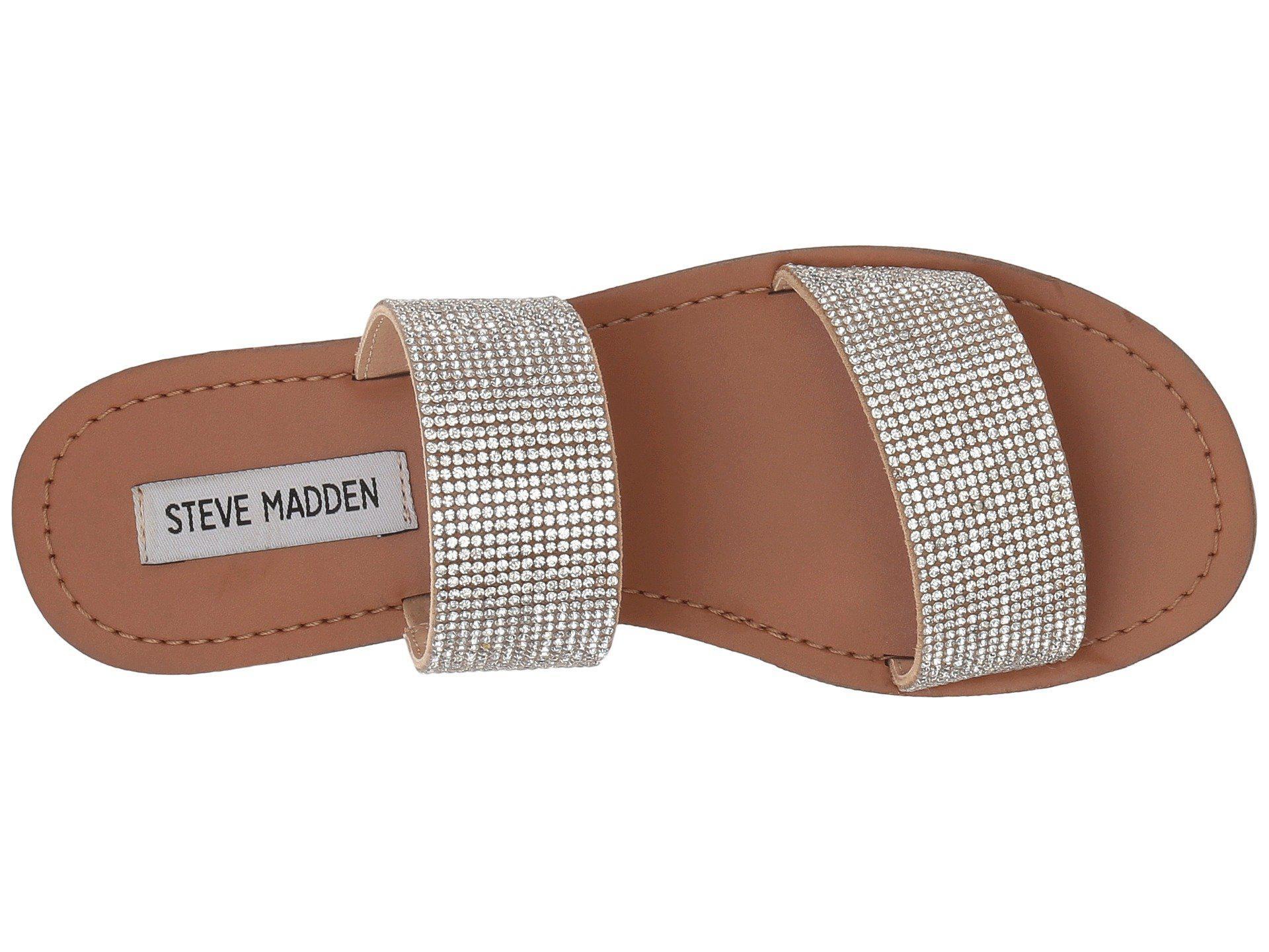 60831dedef96 Lyst - Steve Madden Rage Slide Flat Sandal