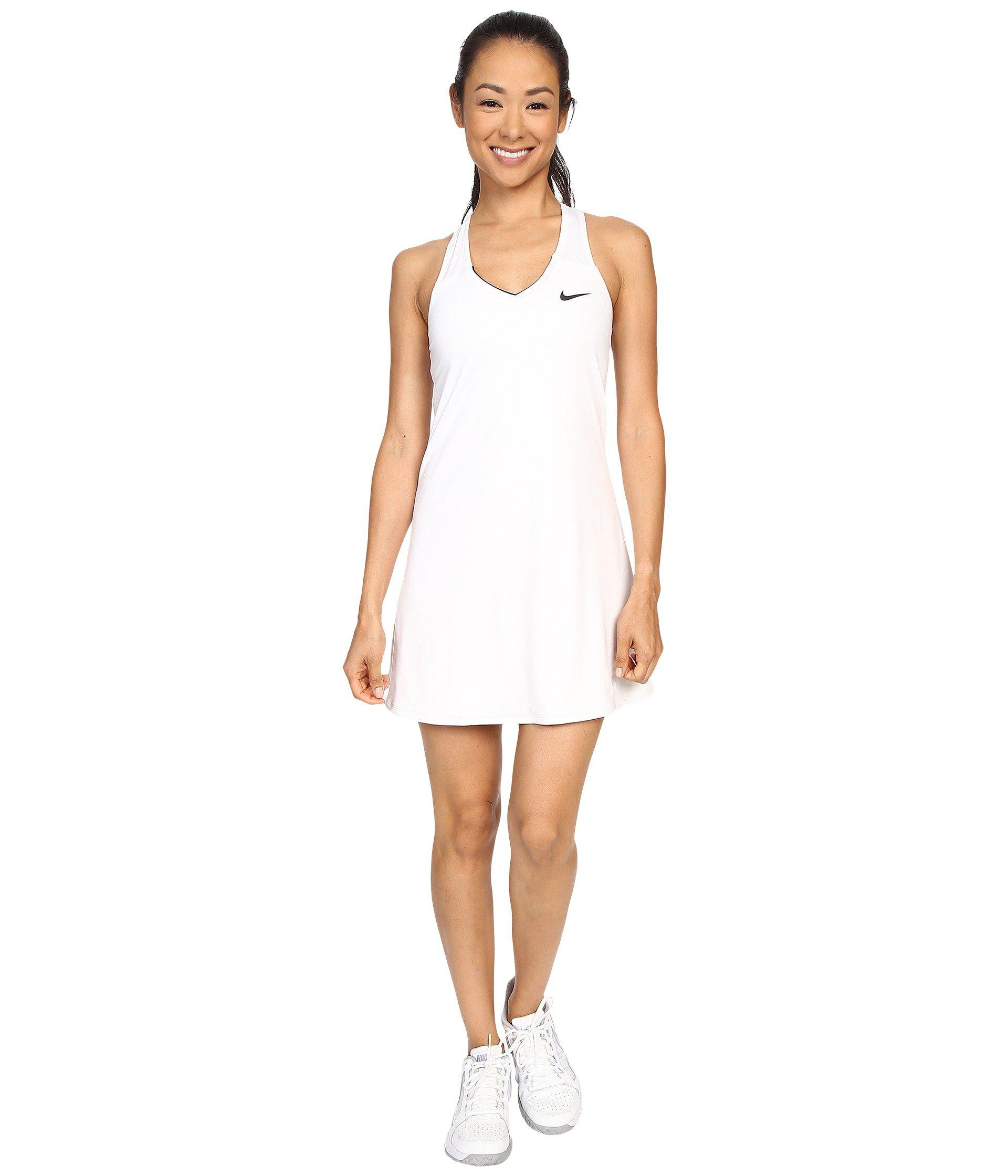 09f4c170438 Lyst - Nike Court Pure Tennis Dress in White - Save 25%