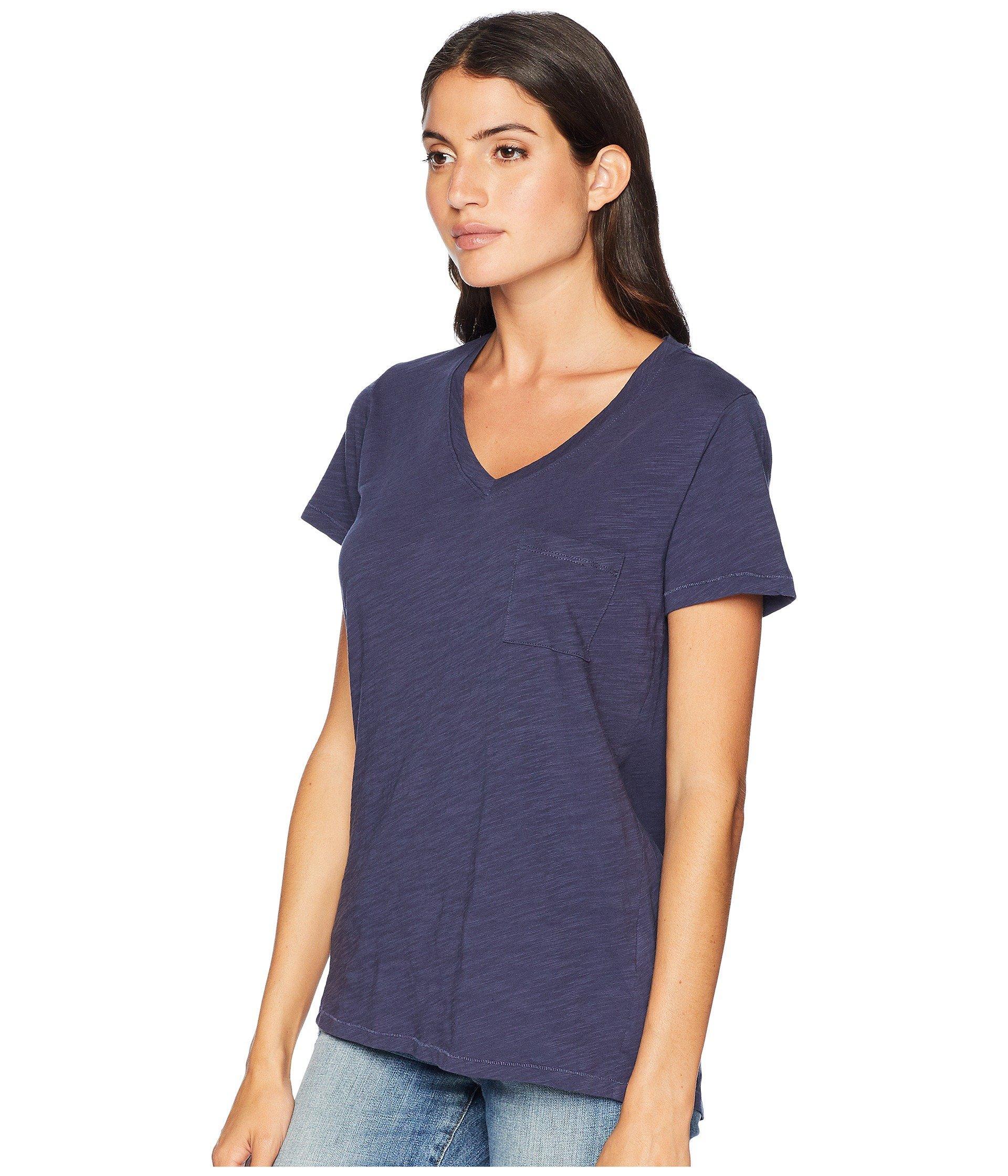 4c362afcc4ef Lyst - Pendleton V-neck Pocket Cotton Tee in Blue - Save 21%