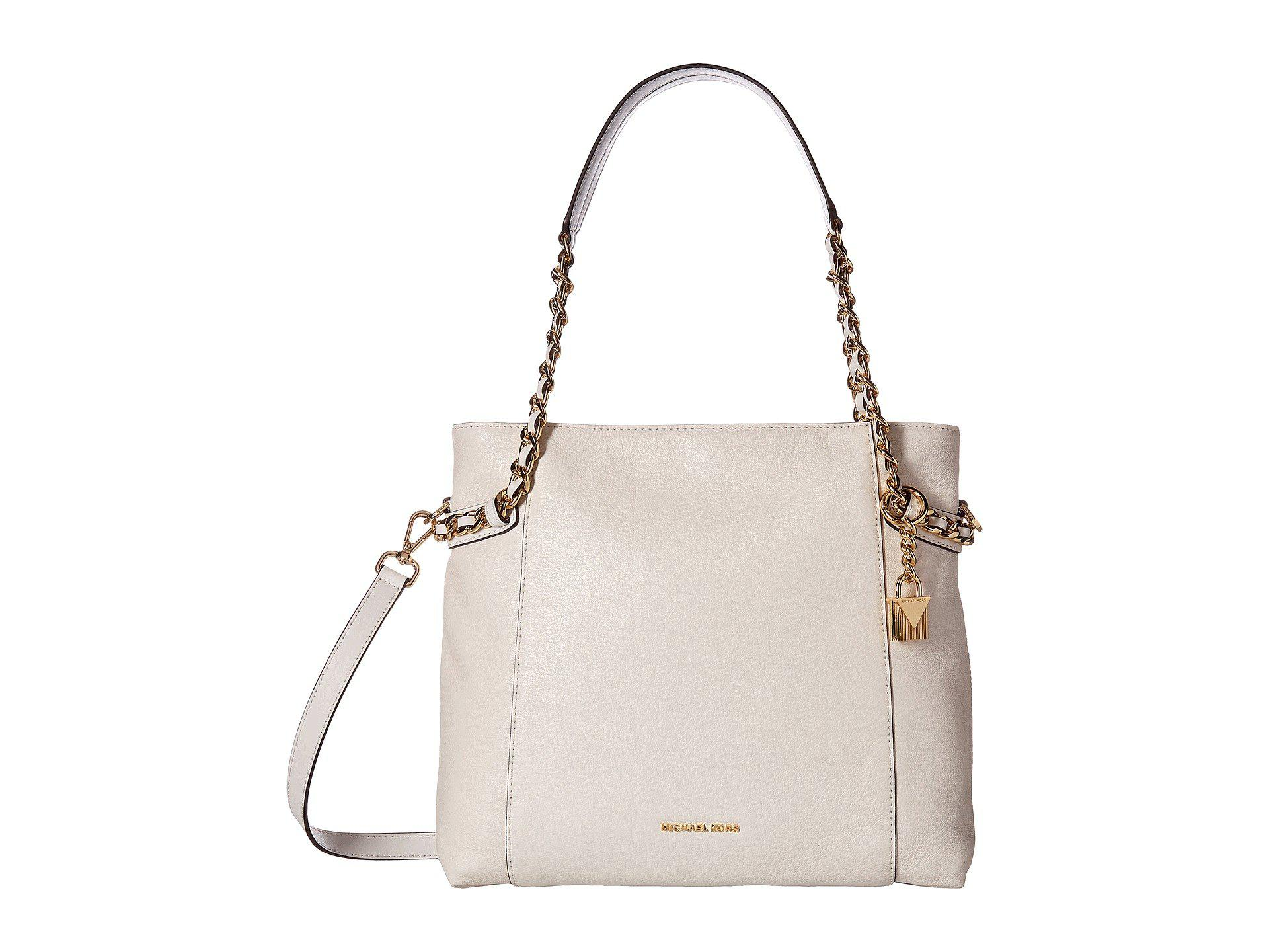 c04785c39b38 MICHAEL Michael Kors Remy Medium Shoulder Tote in White - Lyst