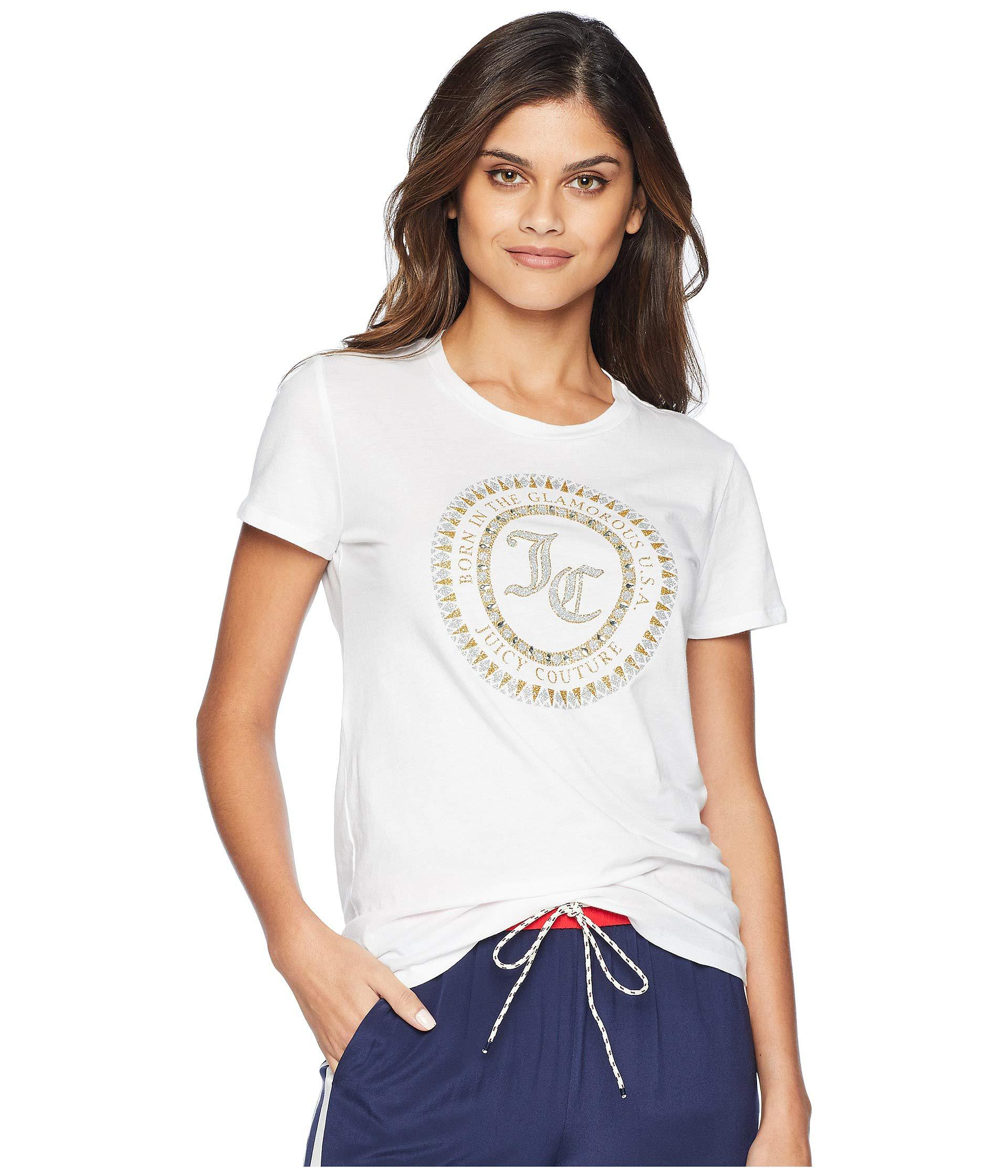 983fc5dd84 Lyst - Juicy Couture Track Seal Of Couture Class Short Sleeve Tee in ...