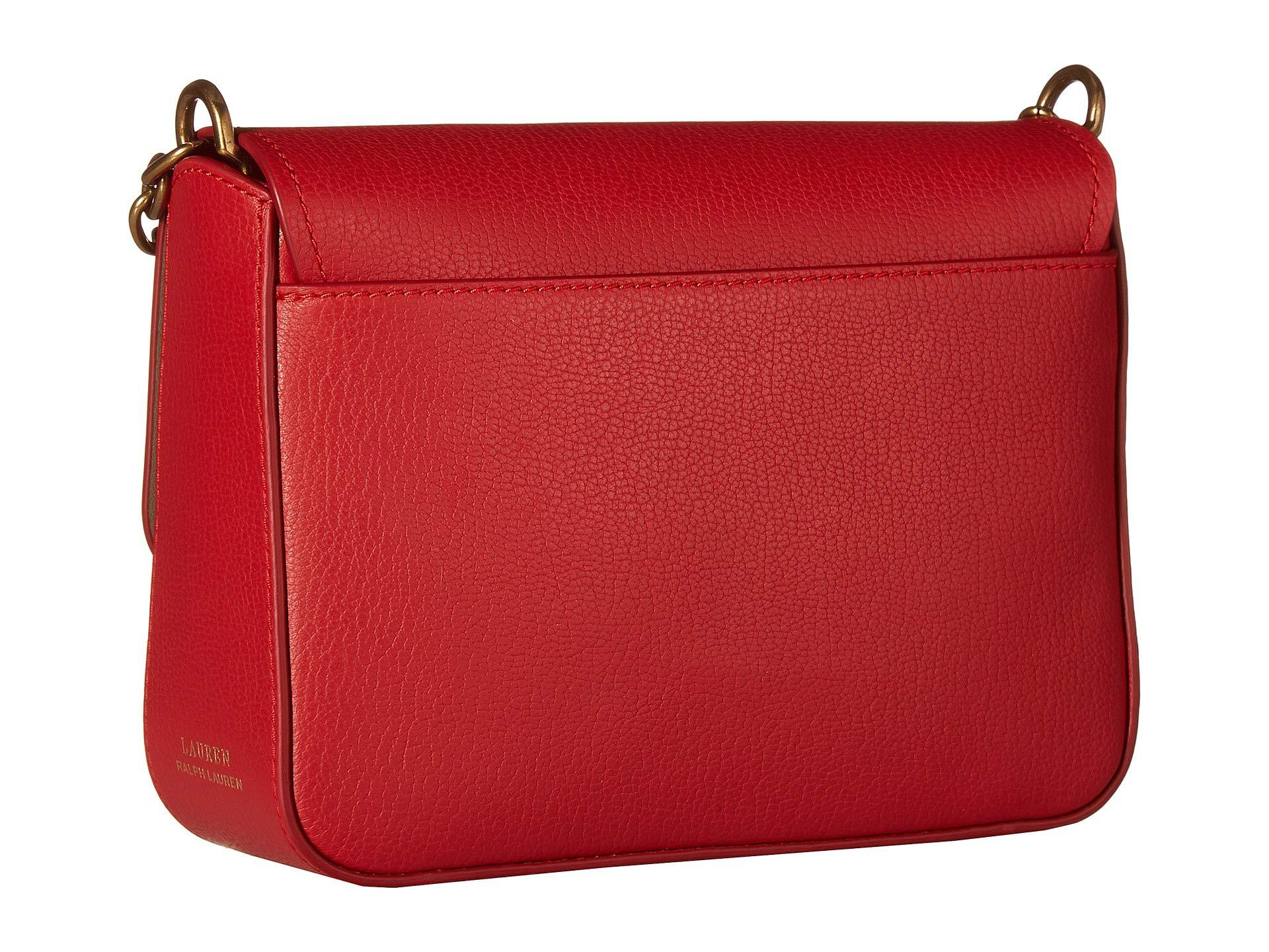 0aacbe3926 Lauren by Ralph Lauren - Red Millbrook Chain Crossbody Small - Lyst. View  fullscreen
