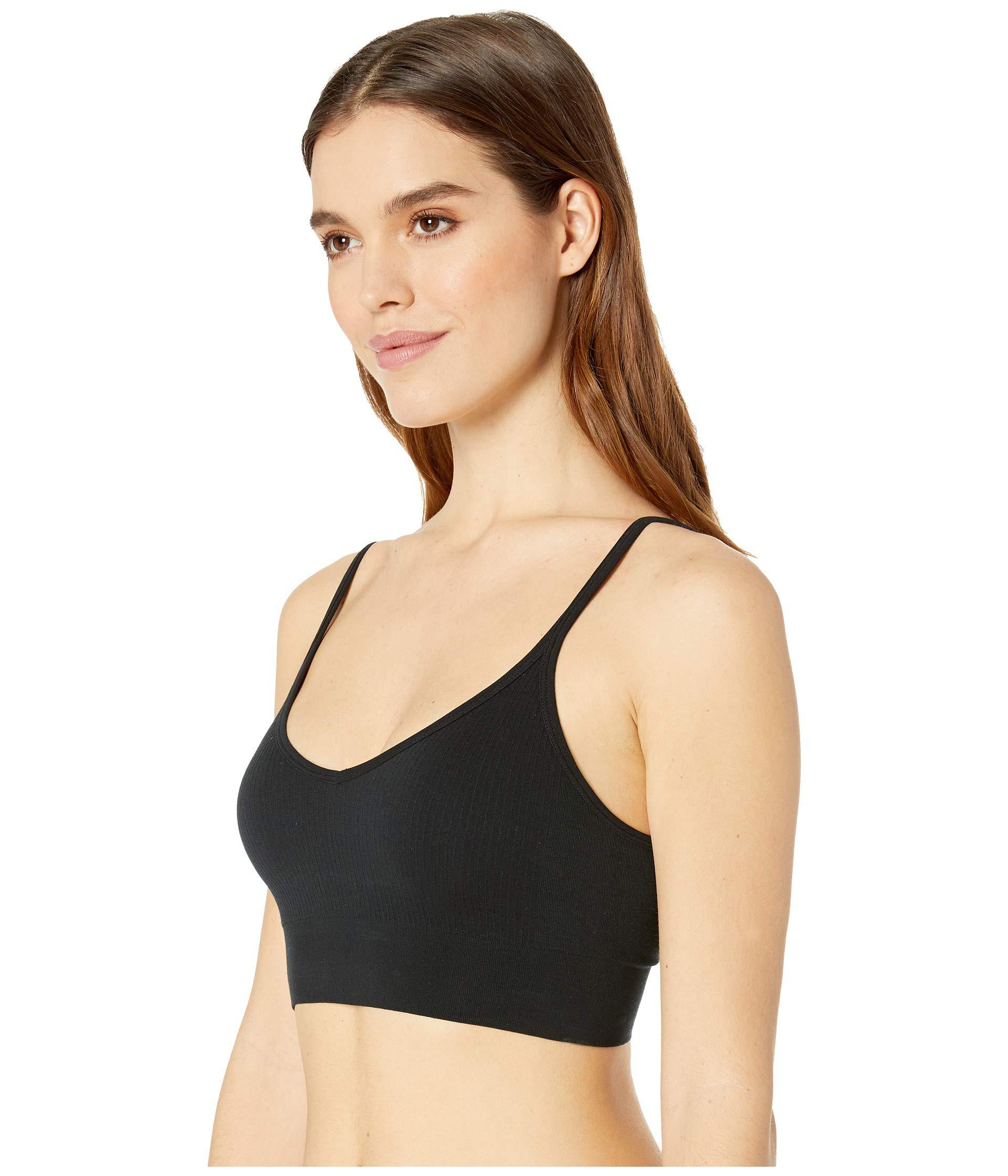 b9368d40ce9420 Lyst - Spanx Laidback Layers Seamless Bralette in Black - Save  36.8421052631579%
