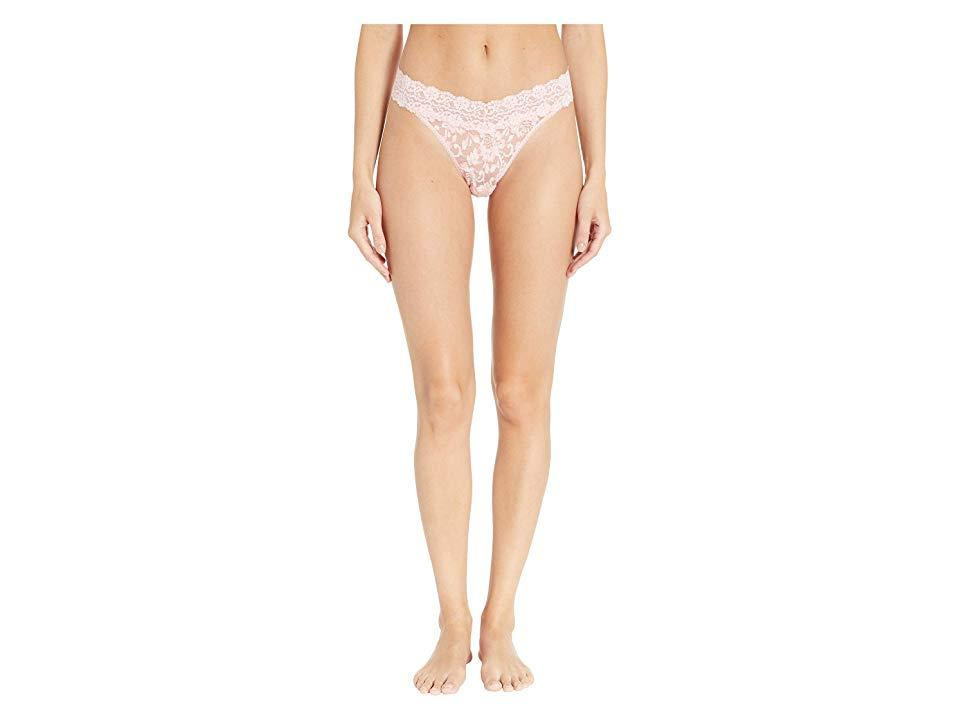 201b4032692e Hanky Panky. Women's Pink Cross-dyed Signature Lace Original Rise Thong  (rosita/marshmallow) Underwear