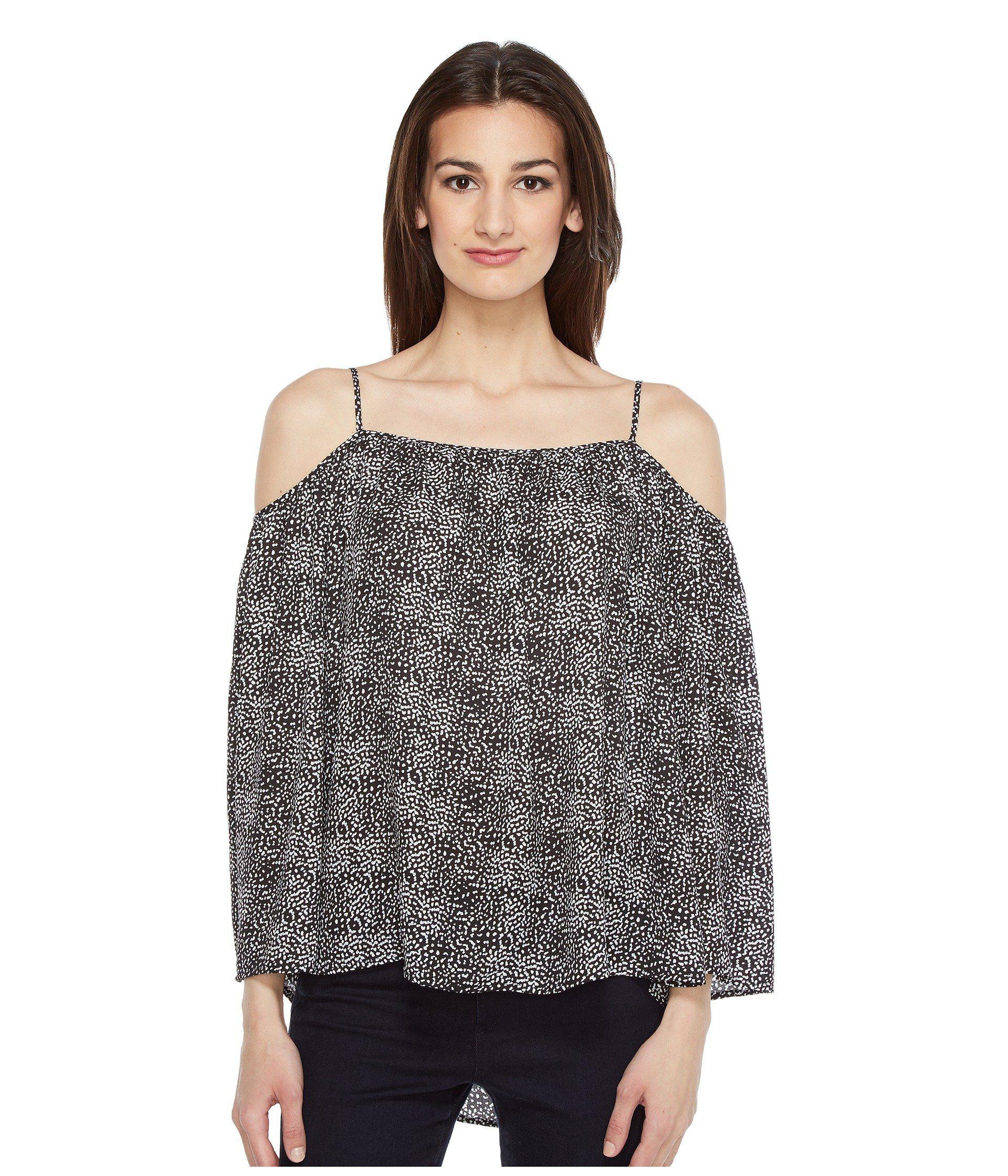 3159dd6a9e520 Vince Camuto. Women s Long Sleeve Delicate Pebbles Cold-shoulder Blouse