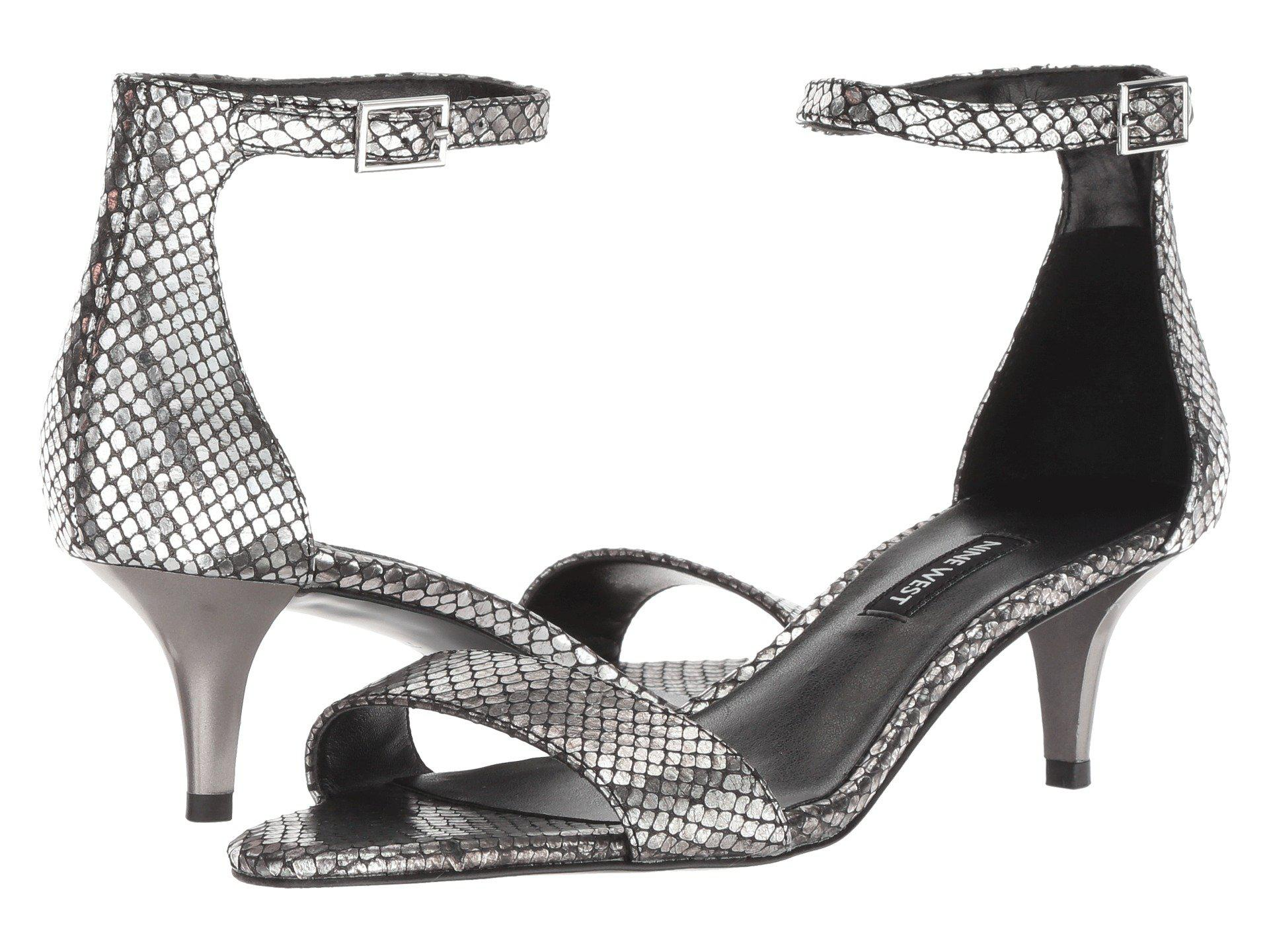 42652e1e3ee Lyst - Nine West Leisa Heel Sandal in Metallic - Save 44%