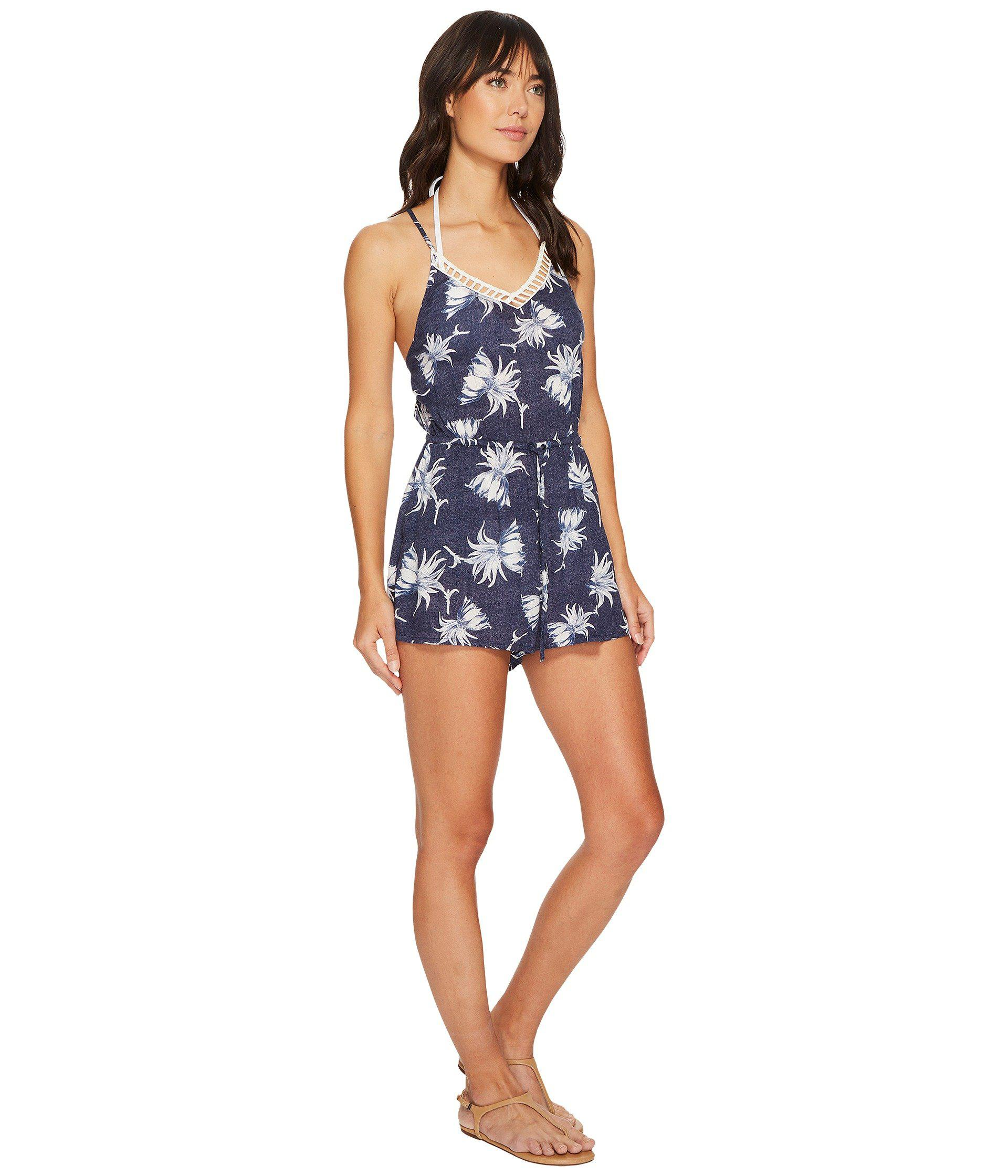 2a4d900d9d77 Roxy Hippy Hour Romper Cover-up in Blue - Lyst