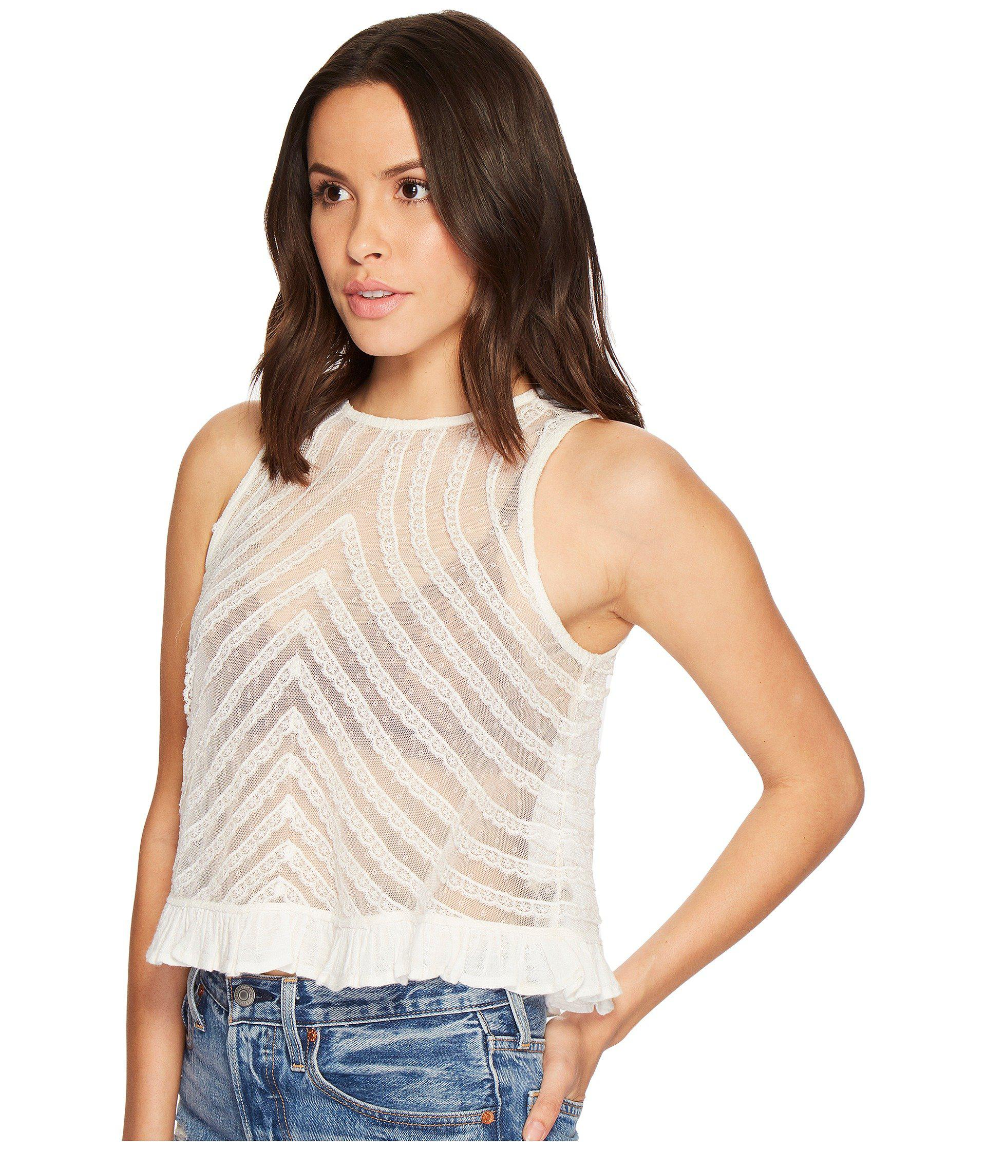 d2f5b757793d6 Lyst - Free People She s A Doll Tank Top in White - Save 63%