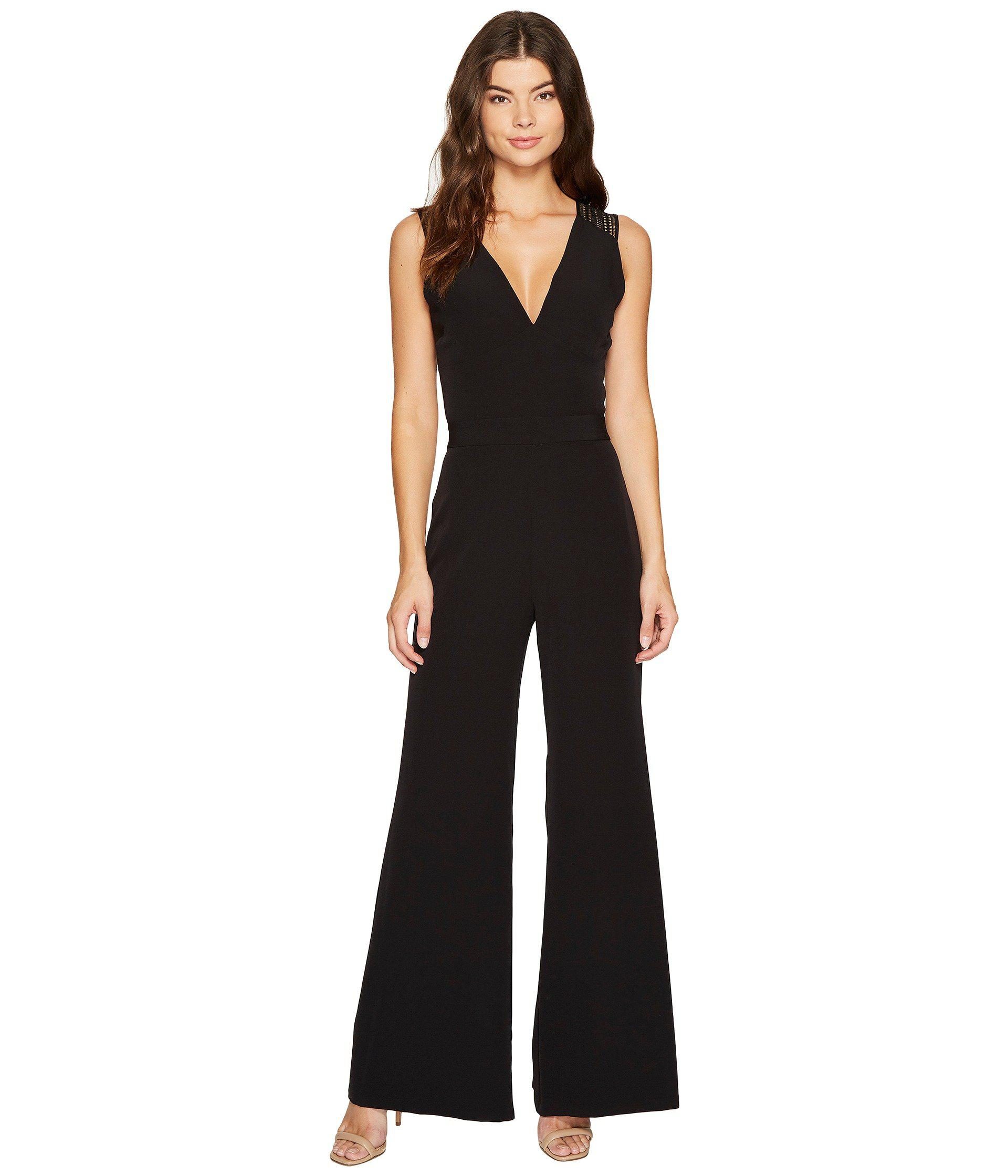 57e2909c7f7 Lyst - Laundry by Shelli Segal Lace Back Jumpsuit in Black - Save 33%