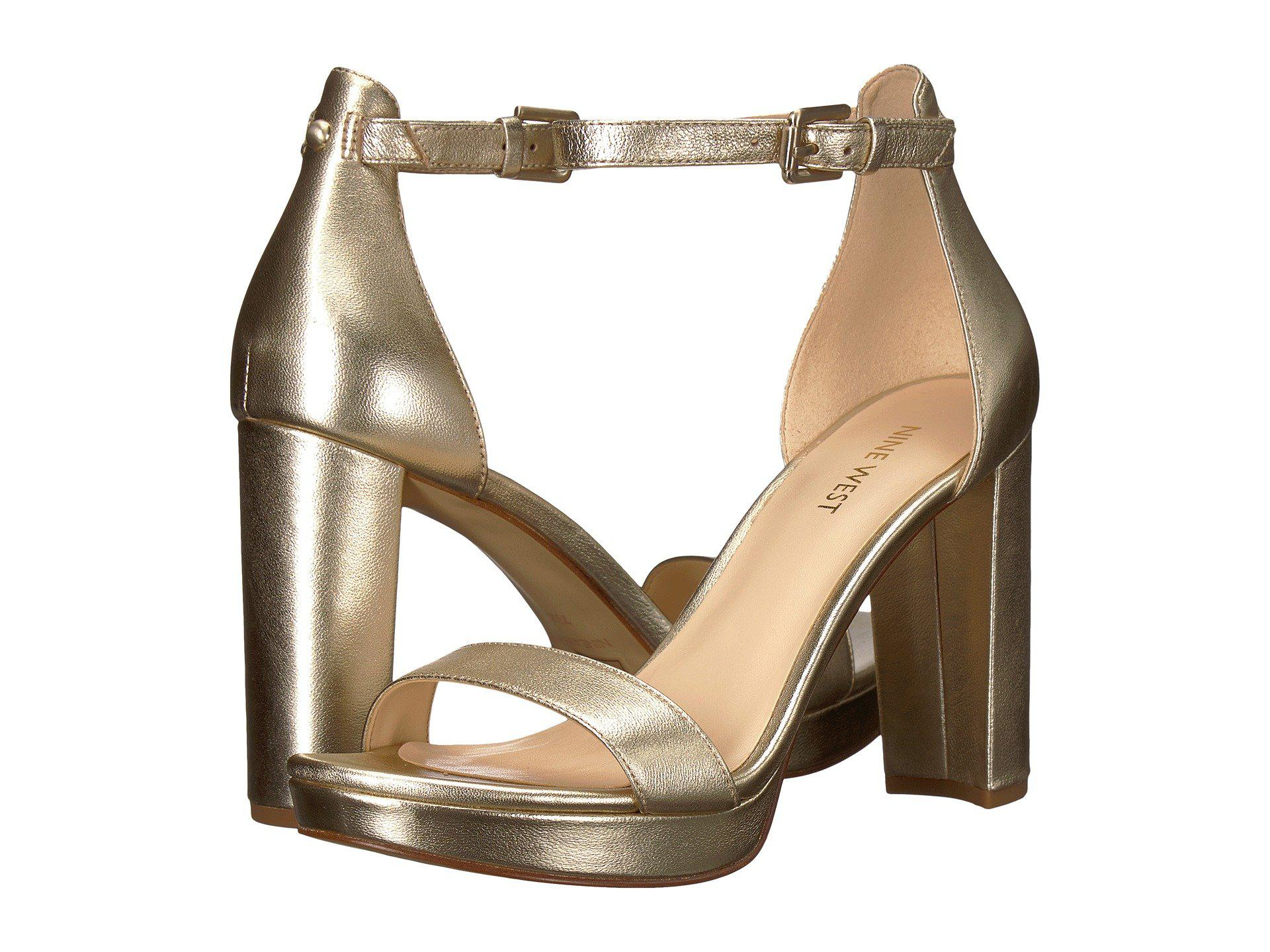 Nine West - Multicolor Dempsey Platform Heel Sandal - Lyst. View fullscreen f744228b71
