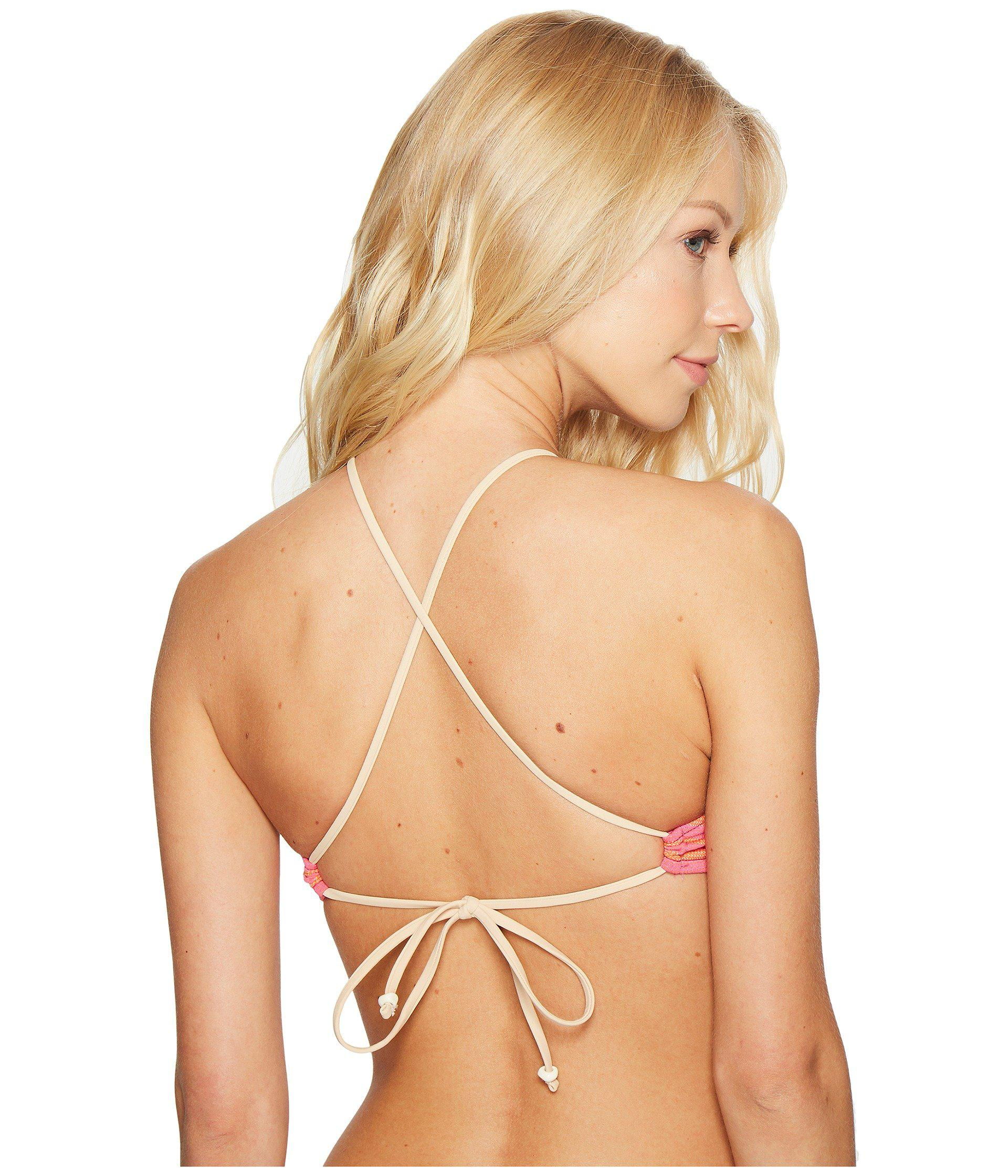 Polo Ralph Lauren - Multicolor Playa Stripe High Neck Bikini Top - Lyst.  View fullscreen