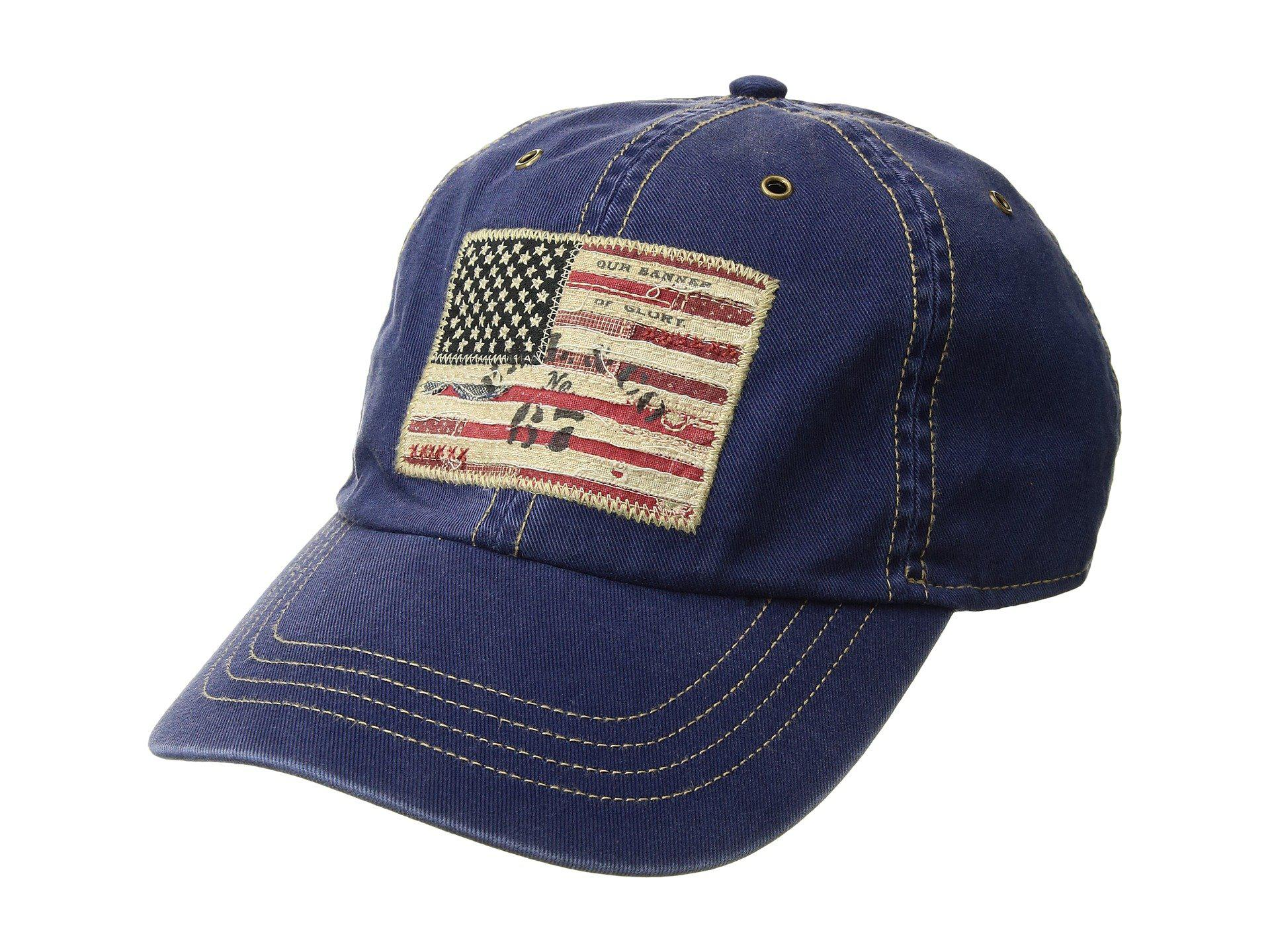 4655d15ed Lyst - Polo Ralph Lauren Cotton Chino Iconic Flag Cap in Blue for Men