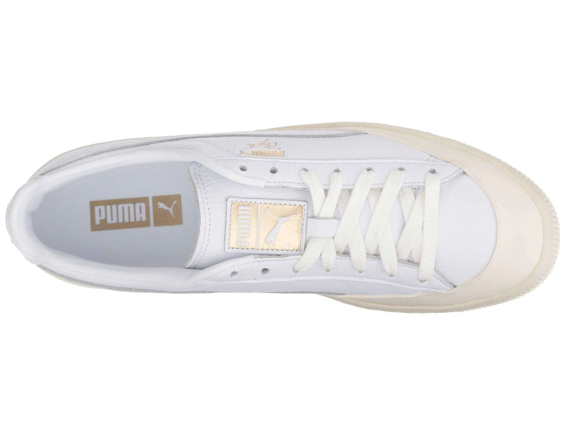 4740617cc01 PUMA - White Clyde Rubber Toe Leather for Men - Lyst. View fullscreen