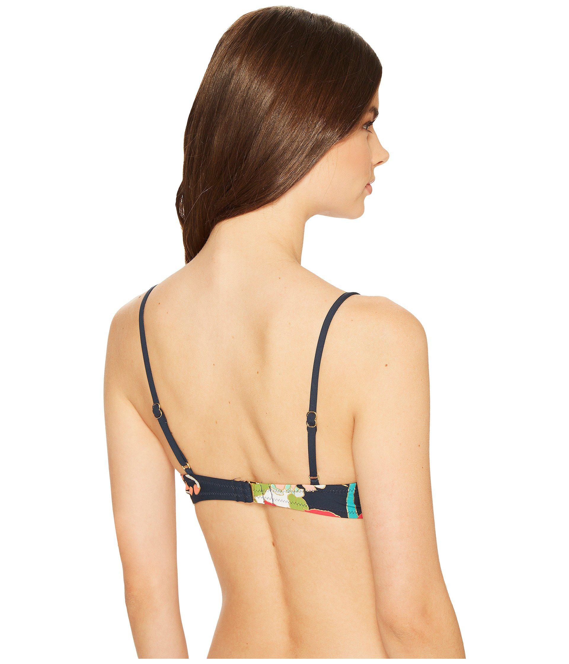 c3f54add14022 Lyst - Trina Turk Royal Botanical Ots Bralette Bikini Top