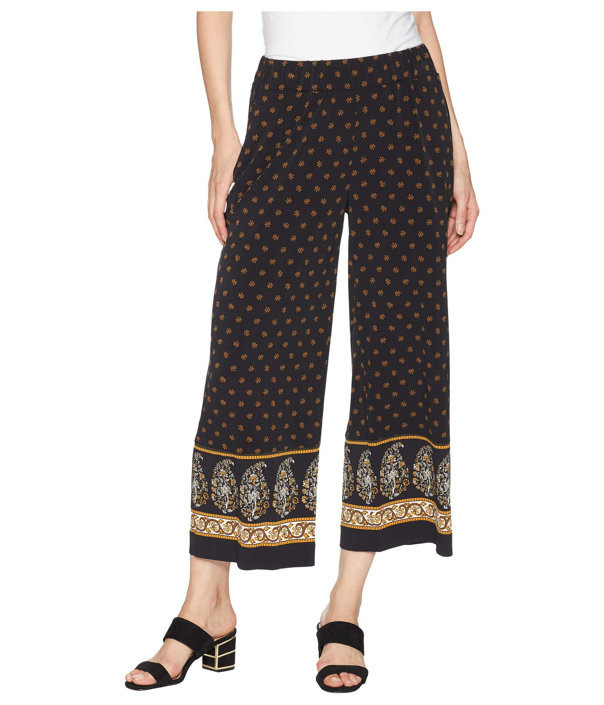 3824950d69 Lyst - MICHAEL Michael Kors Paisley Garden Border Pants in Black ...