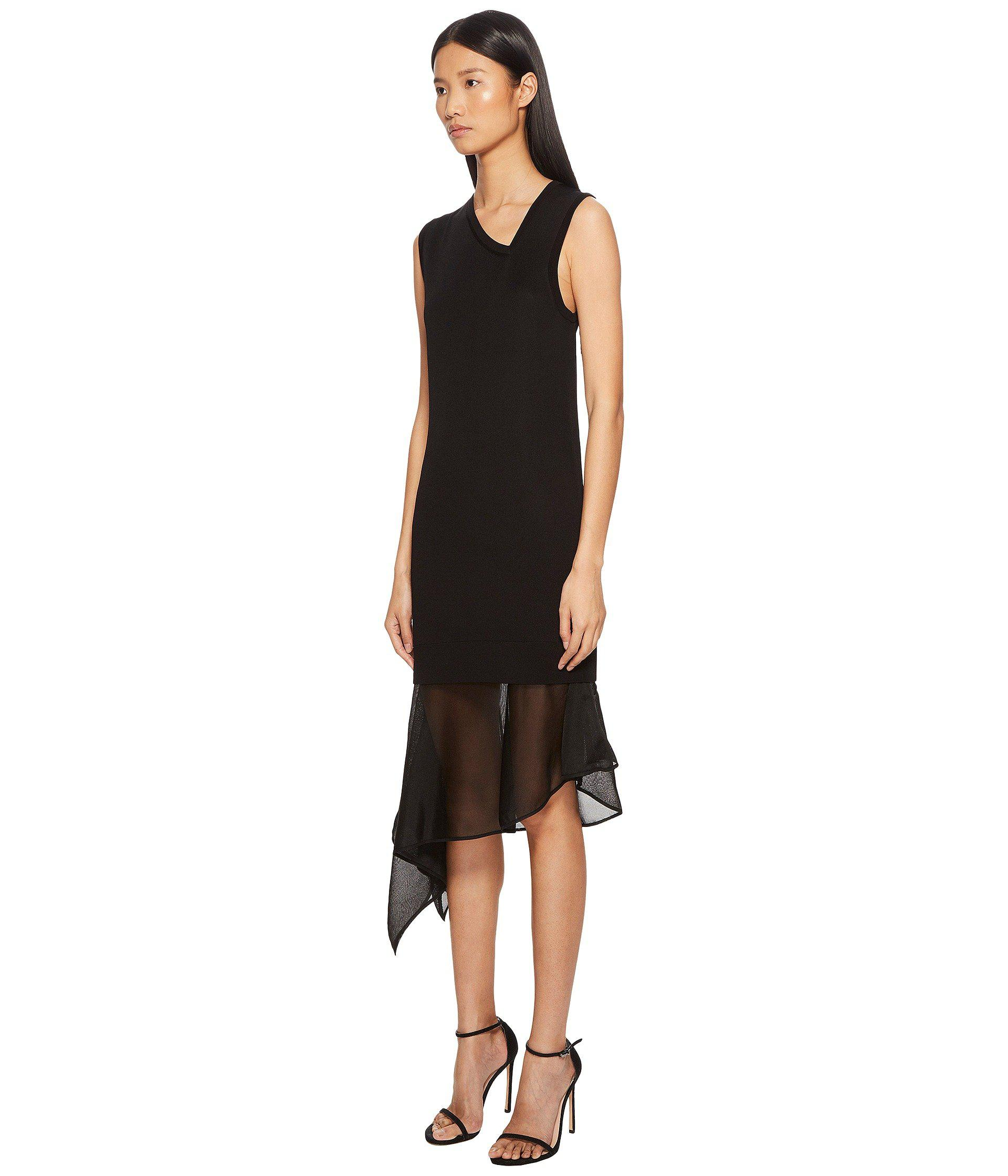 f2ea6cf5a3b Lyst - Neil Barrett Techno Knit Asymmetric Dress in Black - Save 55%
