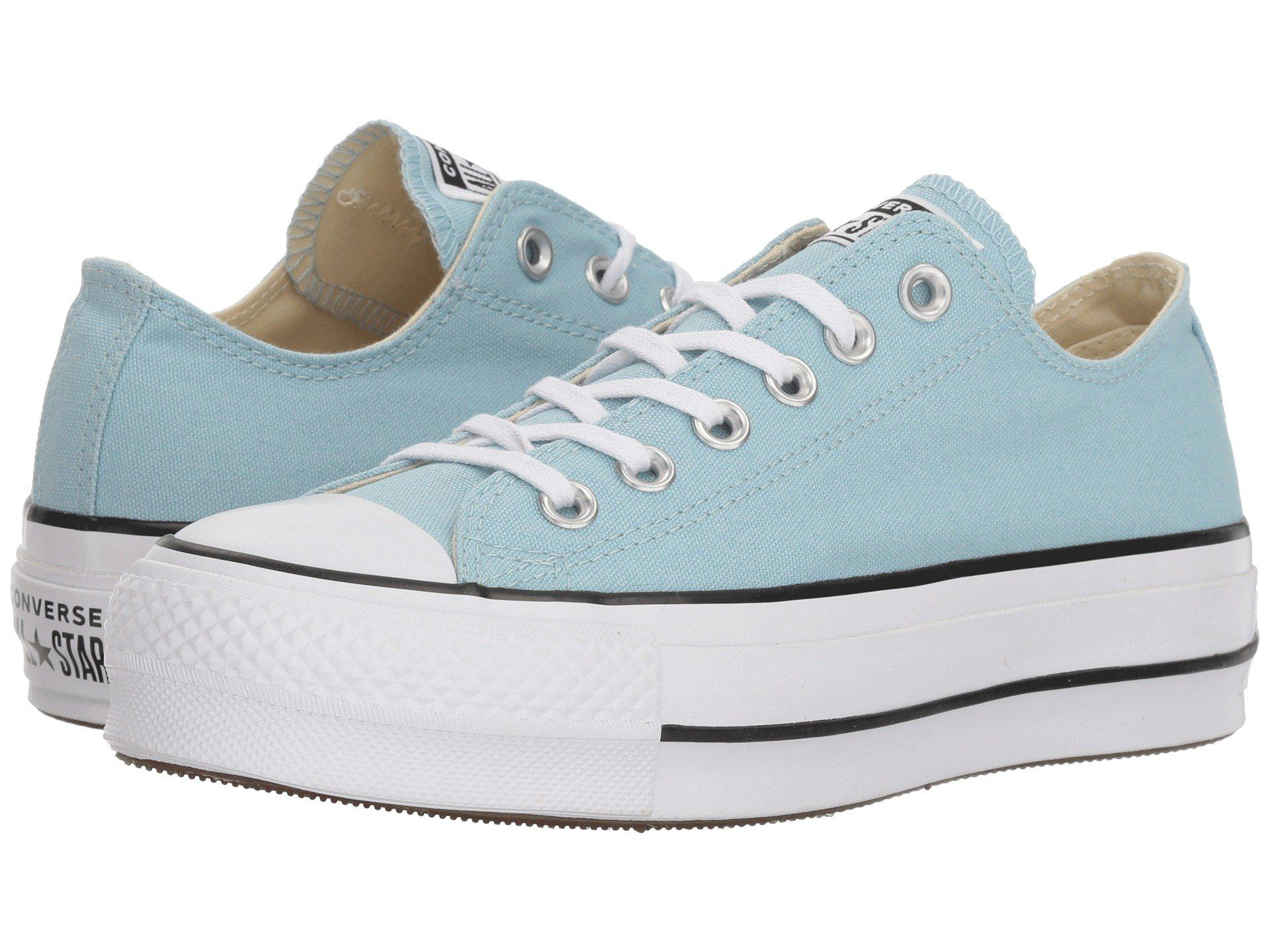 98ec6105e0c8c9 Lyst - Converse Chuck Taylor® All Star® Lift Ox in Blue - Save 37%