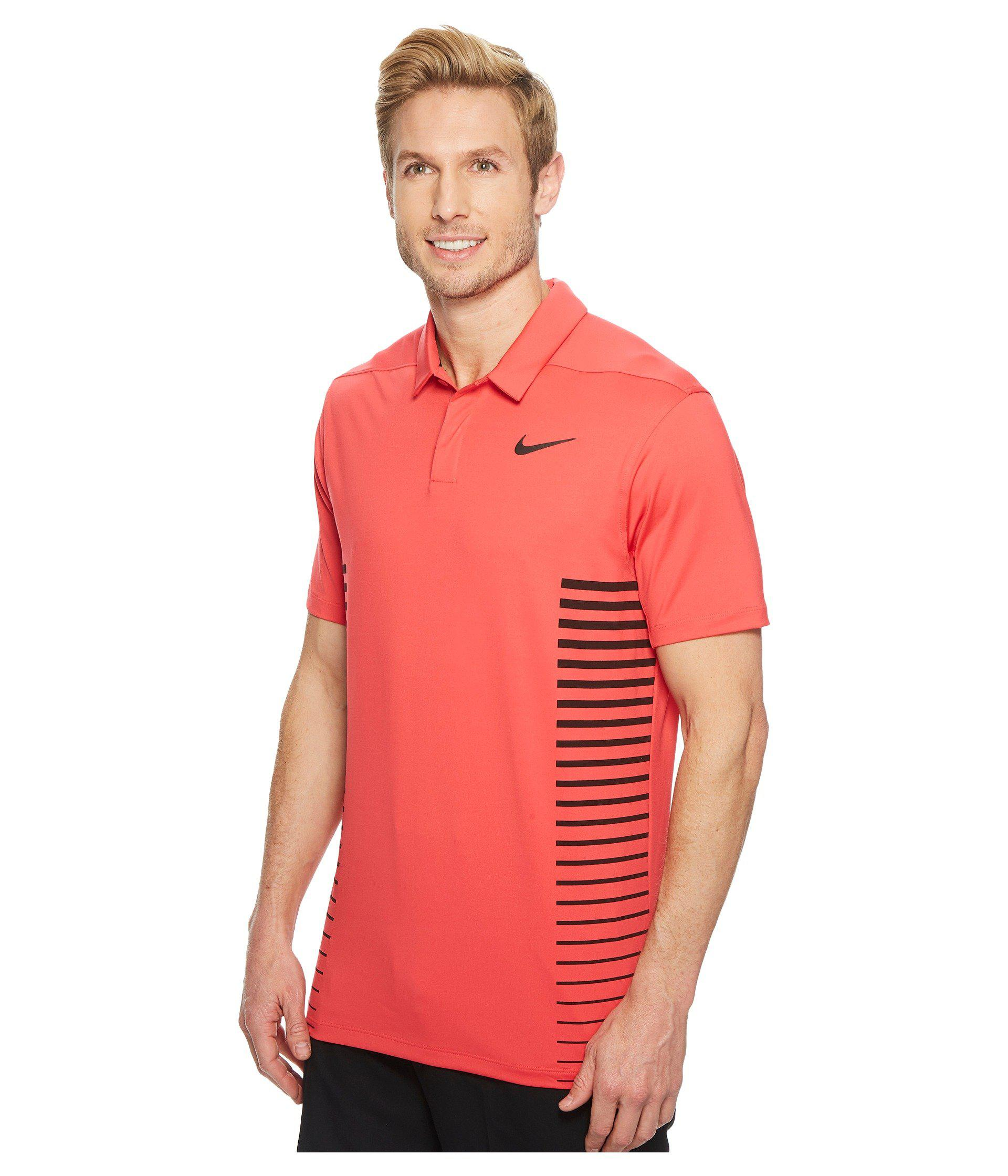 4b19345a Lyst - Nike Zonal Cooling Print Polo in Red for Men - Save 13%