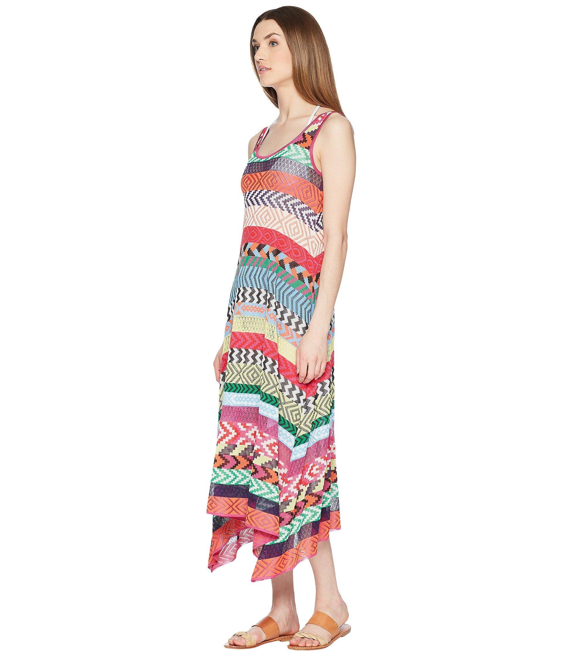 fe15b13e0f6 Lyst - Mary Katrantzou Leandra Dress Fira Stripe Knit Cover-up in Red -  Save 50%