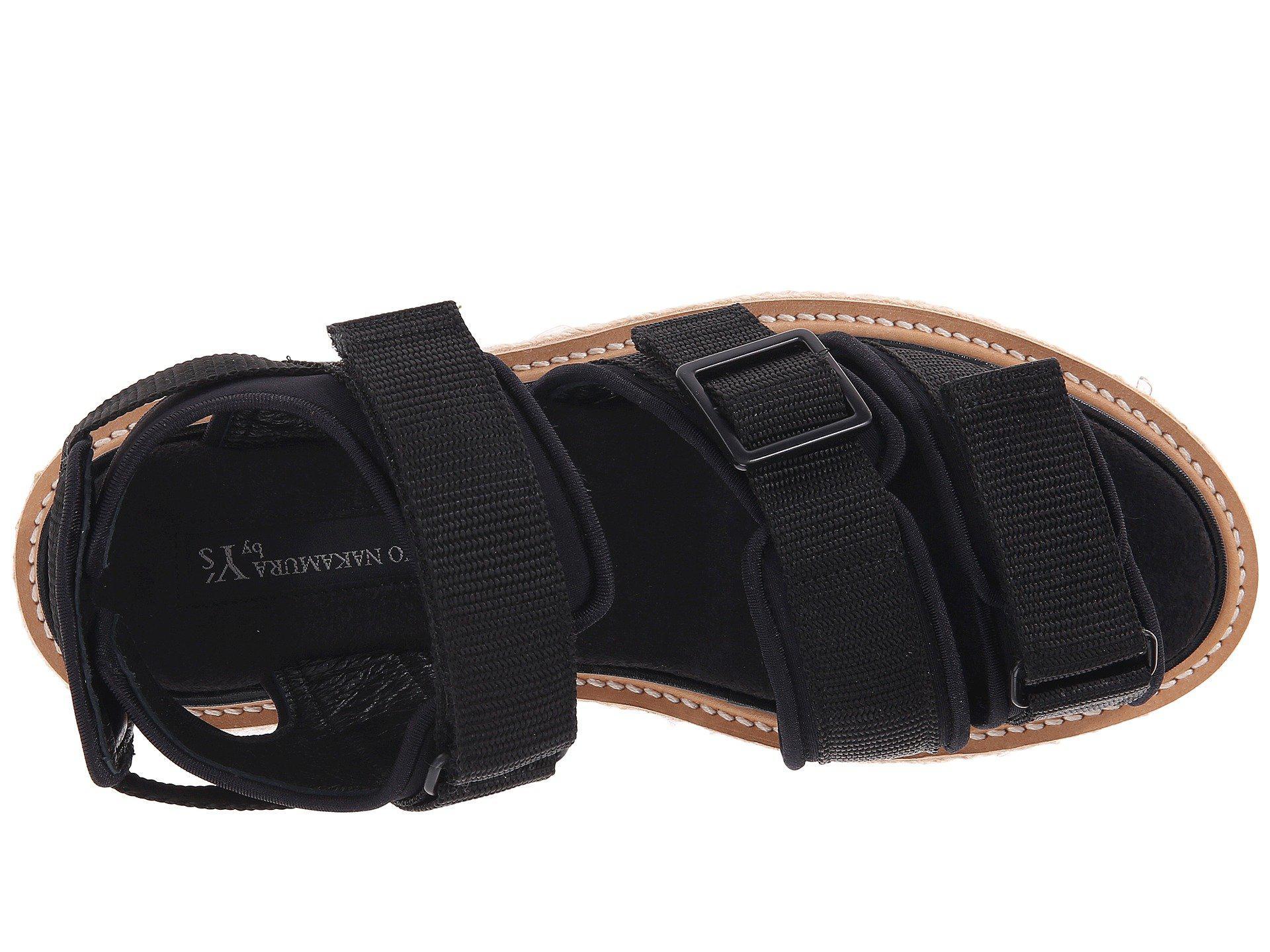 8f8d73b39 Lyst - Y s Yohji Yamamoto Shark Strap Sandals in Black