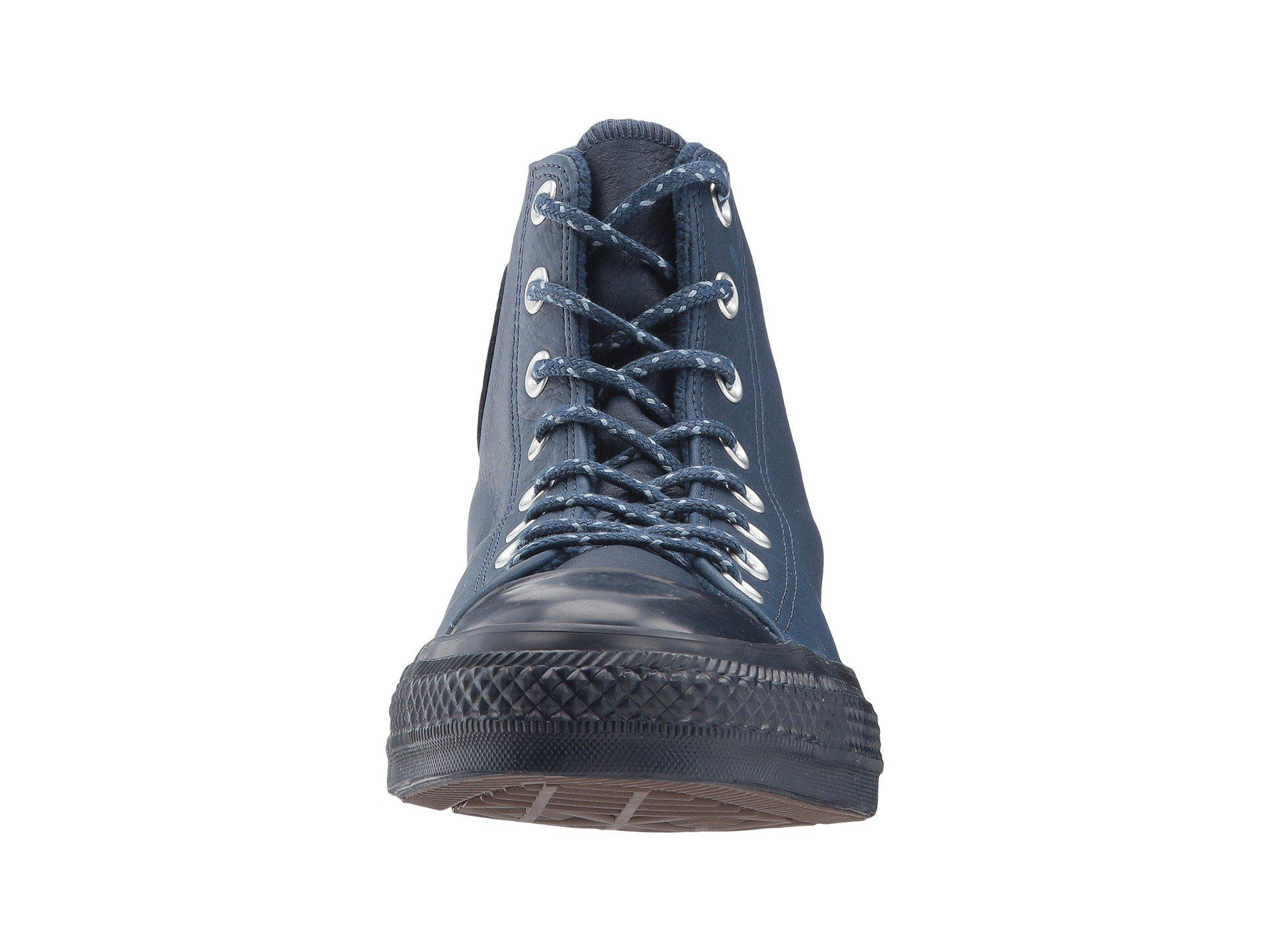 8574a85fe4d4 Lyst - Converse Chuck Taylor® All Star® Leather W  Thermal Hi in Blue